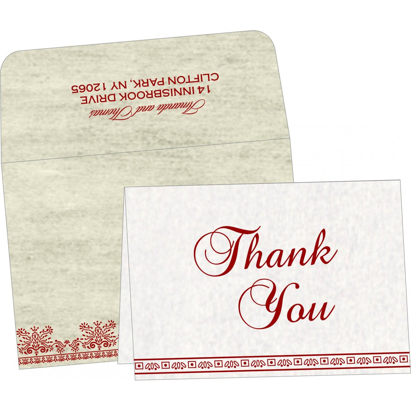 Thank You Cards : CTYC-8241B - IndianWeddingCards