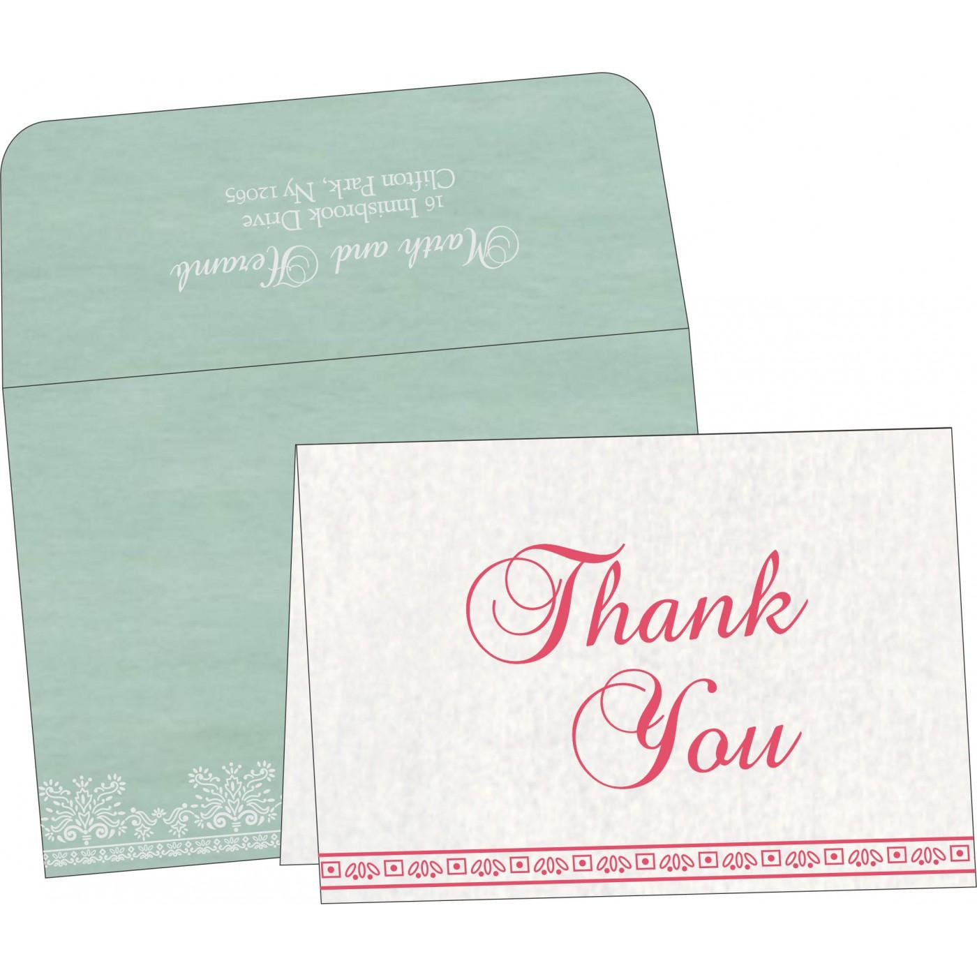 Thank You Cards : CTYC-8241C - IndianWeddingCards