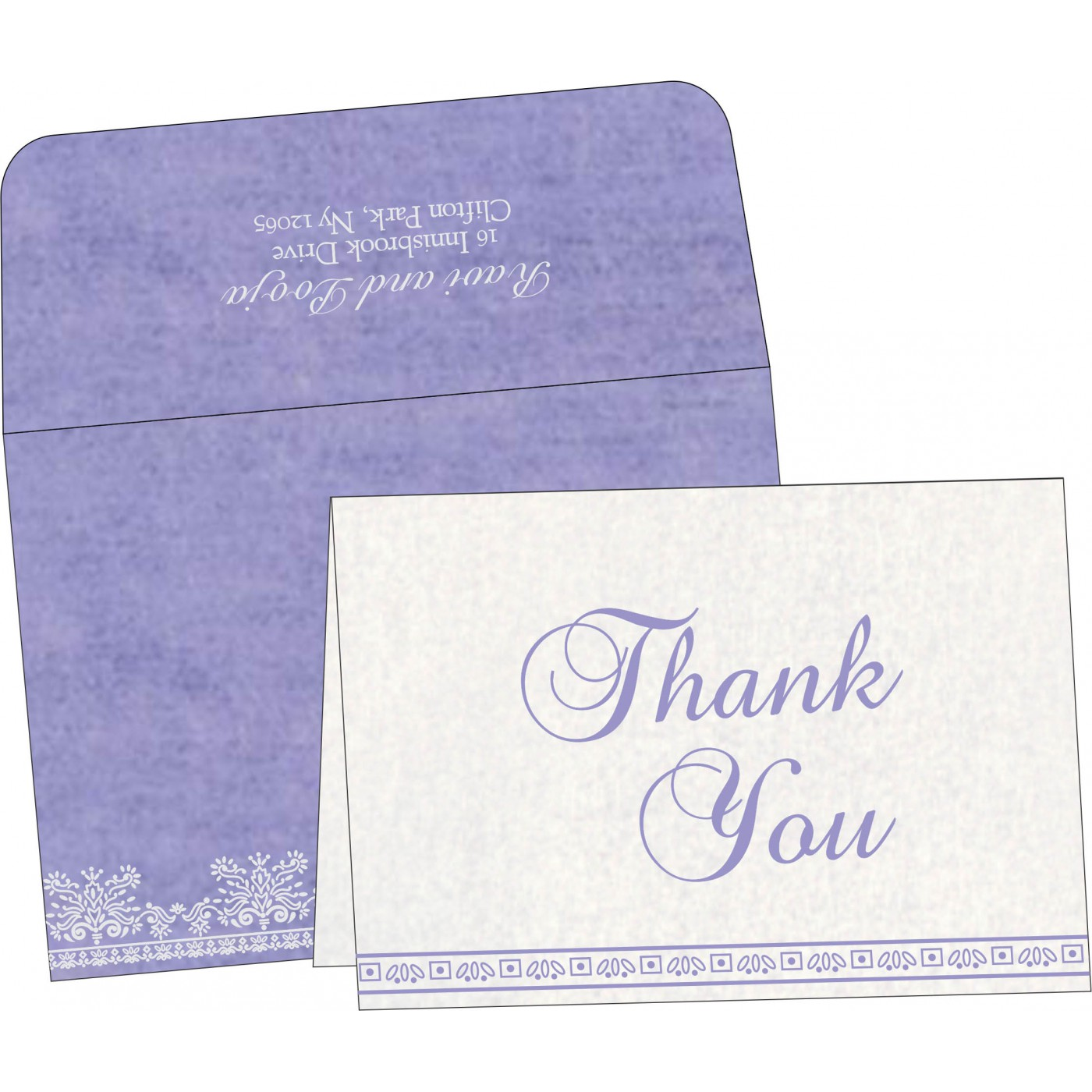 Thank You Cards : CTYC-8241D - IndianWeddingCards