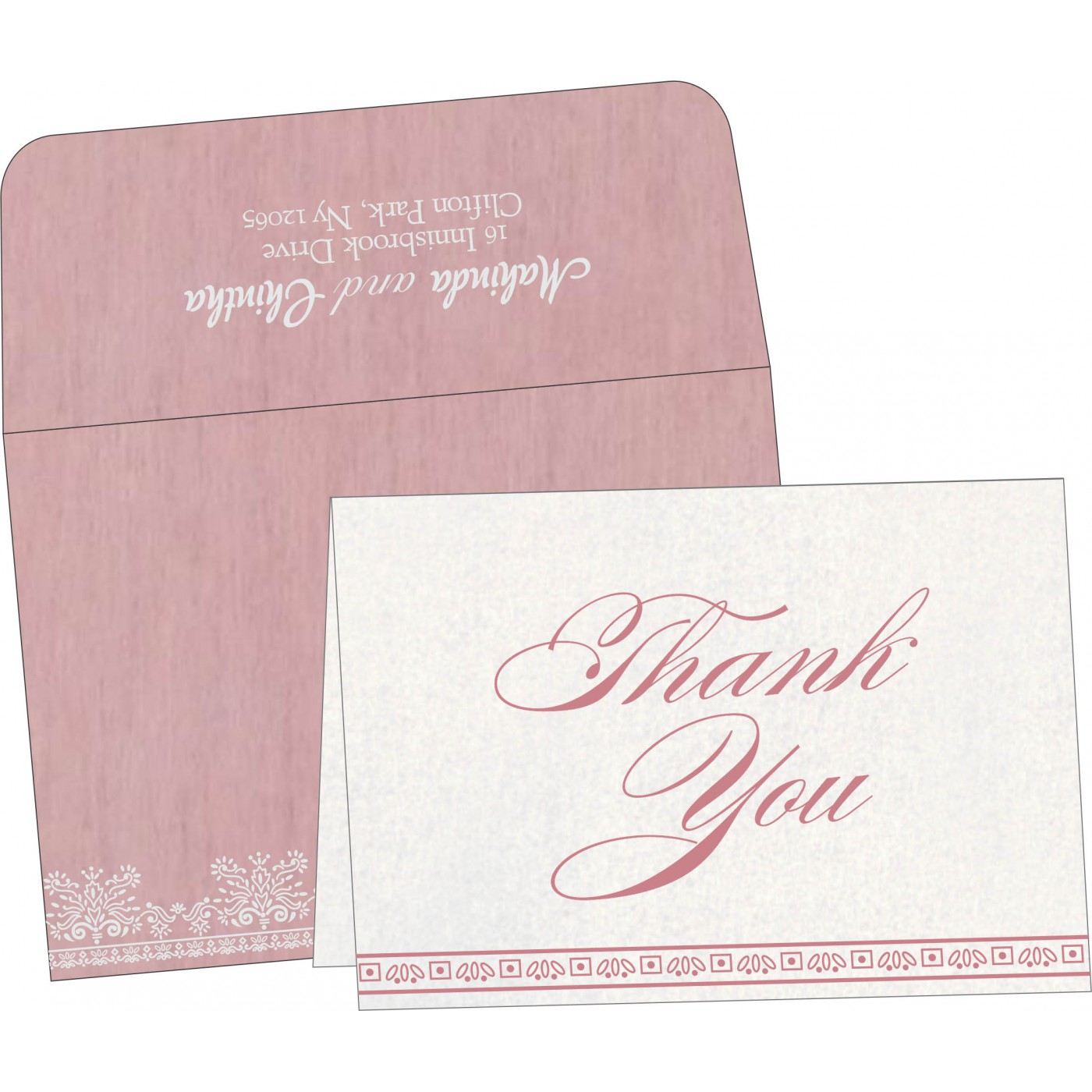 Thank You Cards : CTYC-8241E - IndianWeddingCards