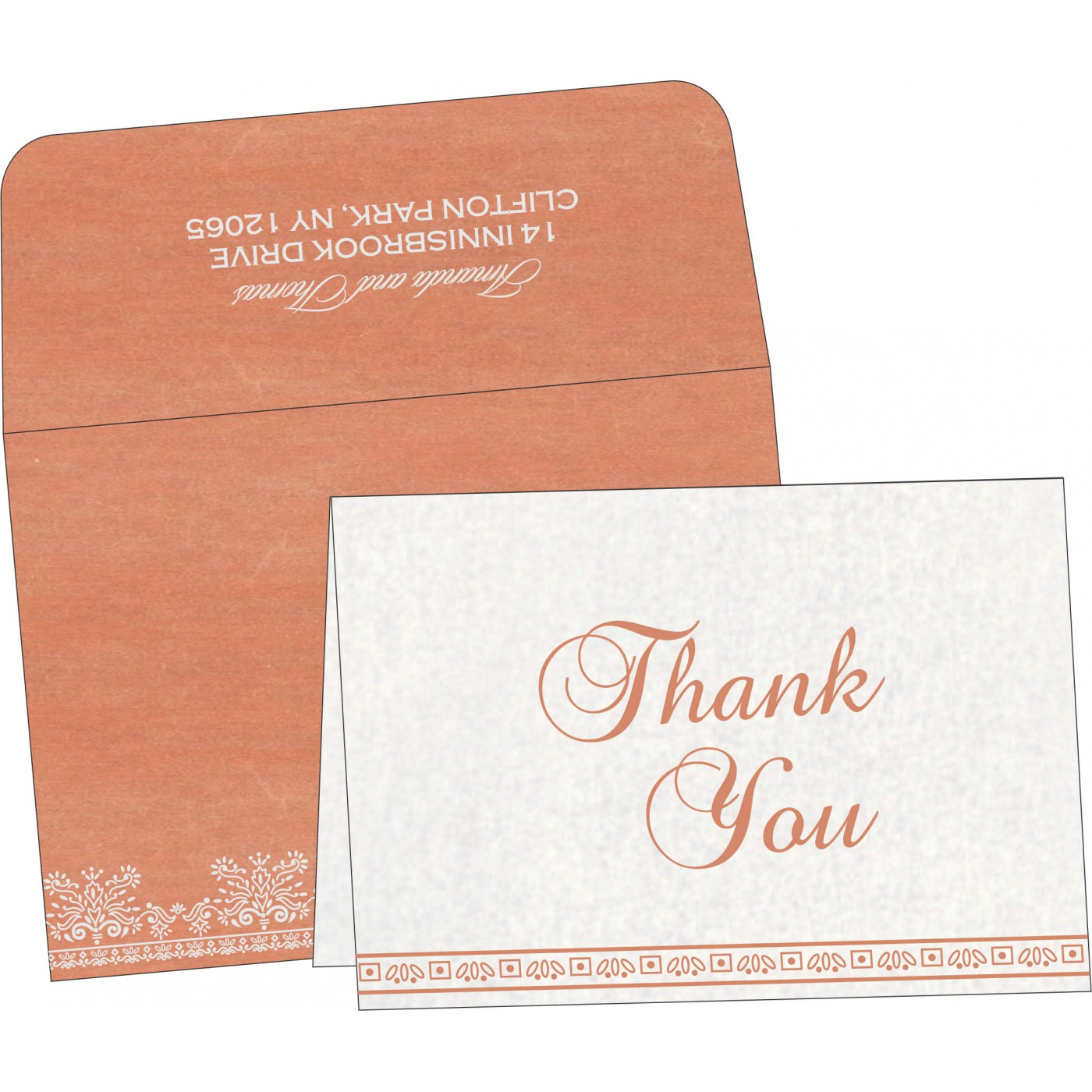 Thank You Cards : CTYC-8241G - IndianWeddingCards