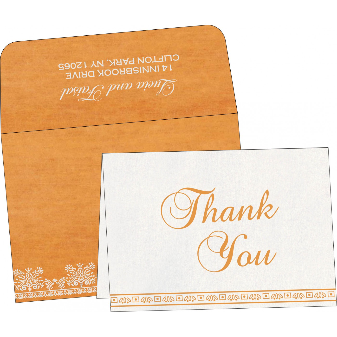 Thank You Cards : CTYC-8241H - IndianWeddingCards