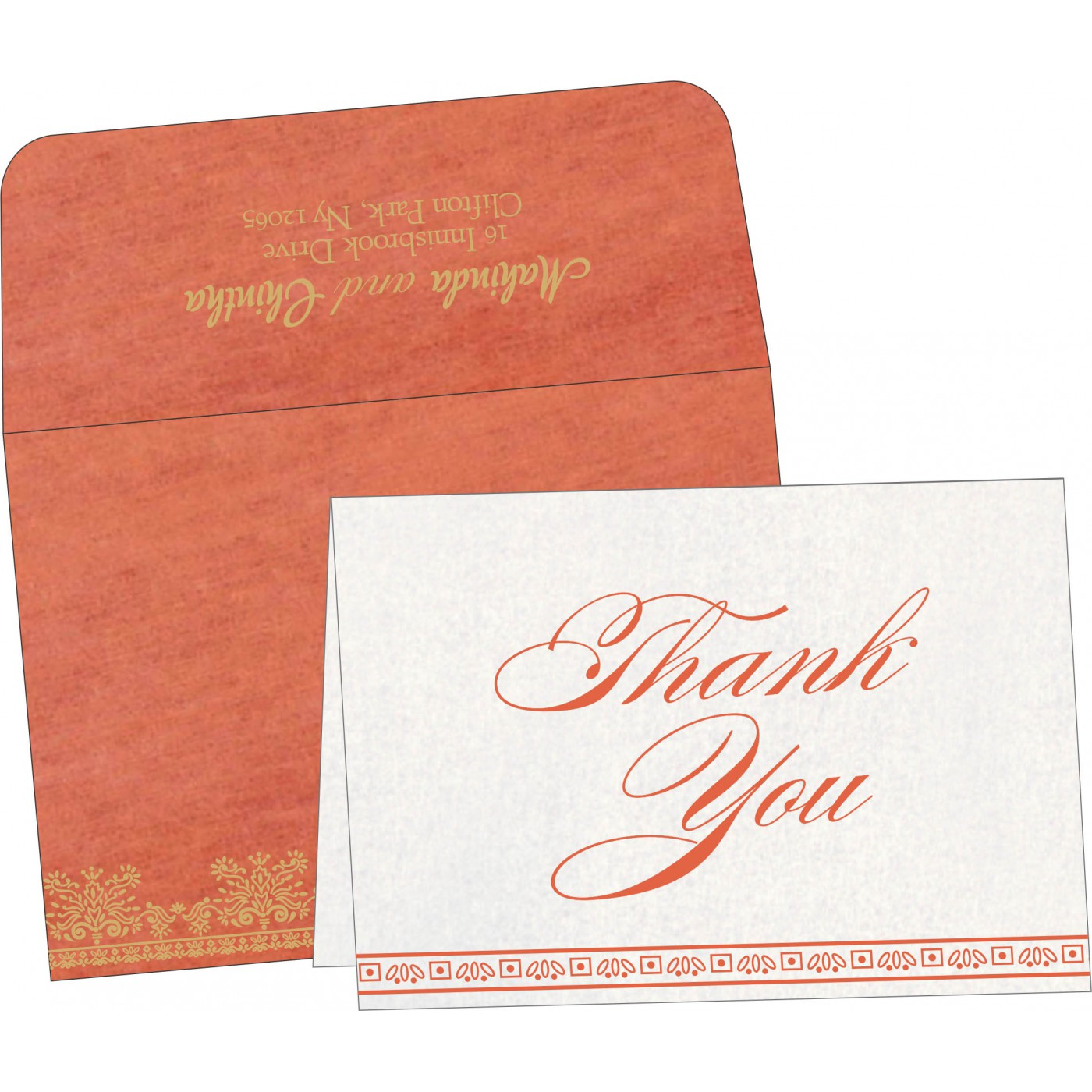 Thank You Cards : CTYC-8241K - IndianWeddingCards