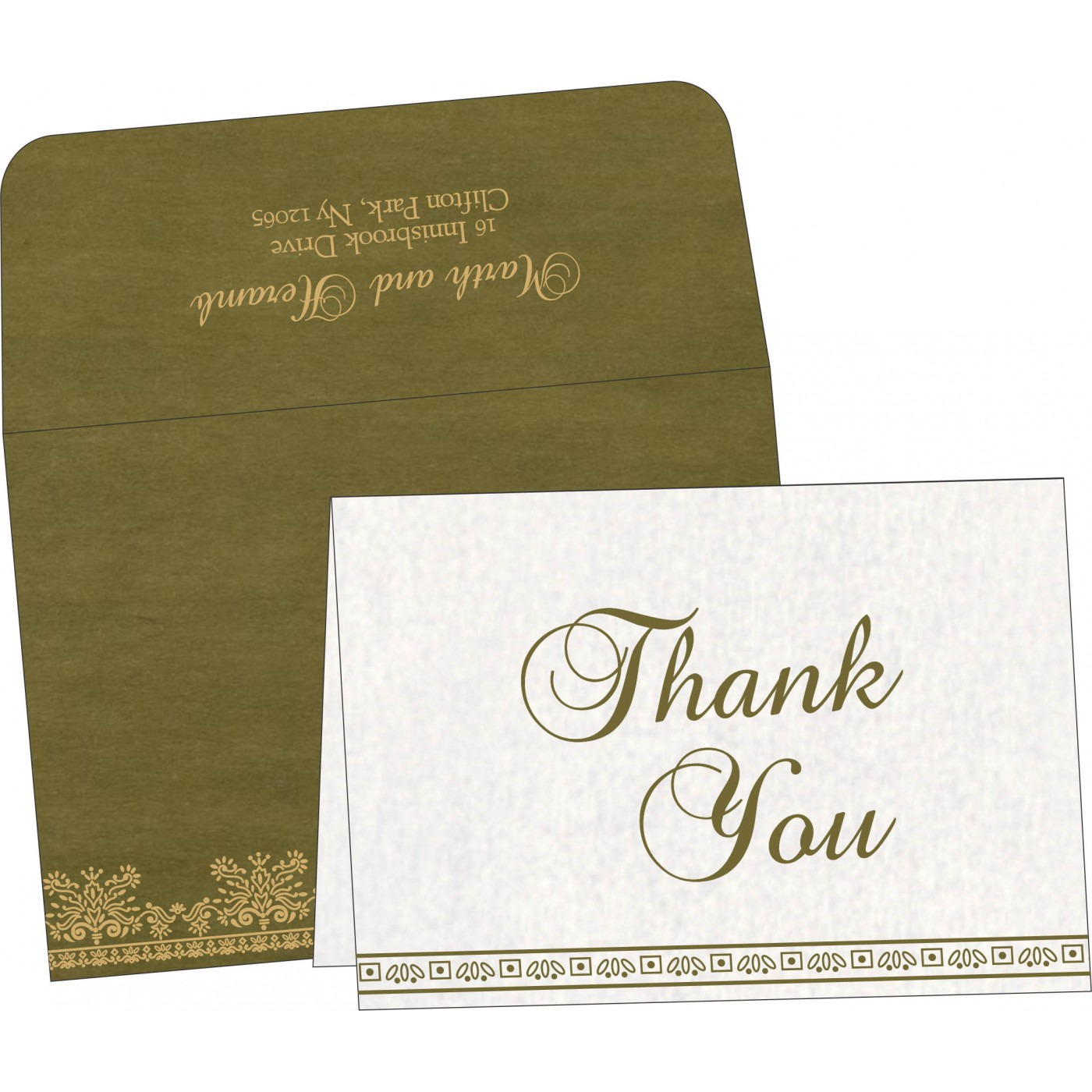 Thank You Cards : CTYC-8241L - IndianWeddingCards