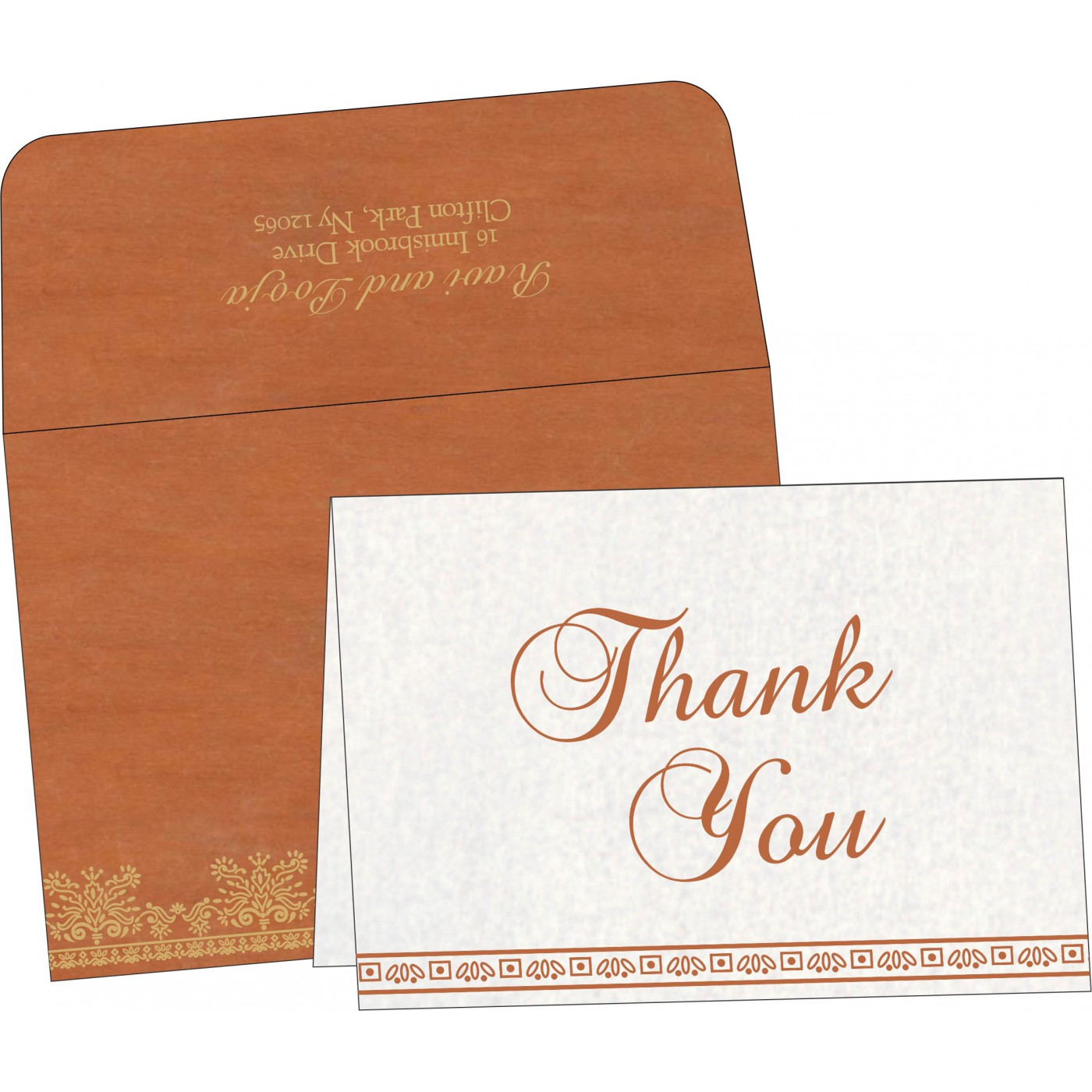 Thank You Cards : CTYC-8241M - IndianWeddingCards