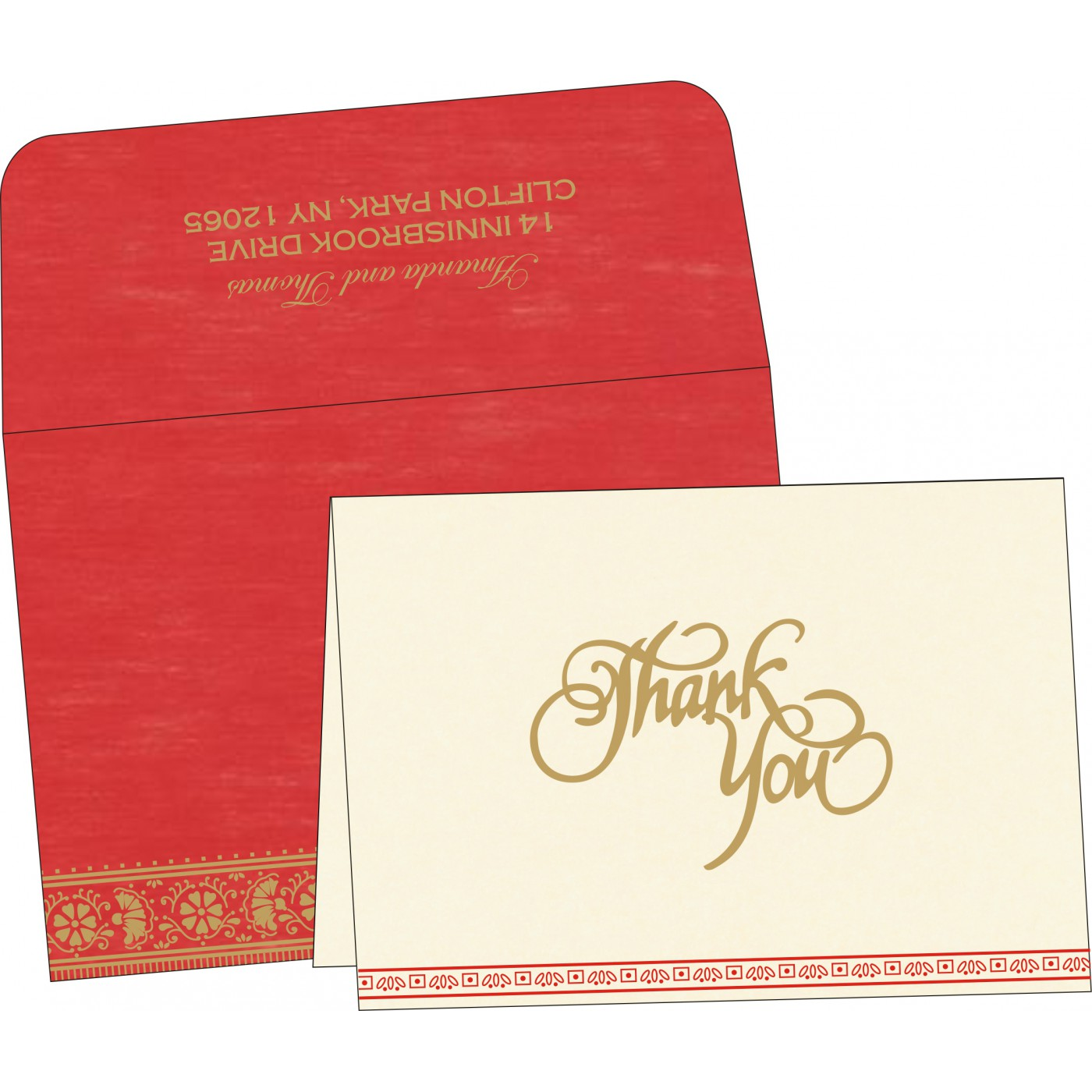 Thank You Cards : CTYC-8242A - IndianWeddingCards