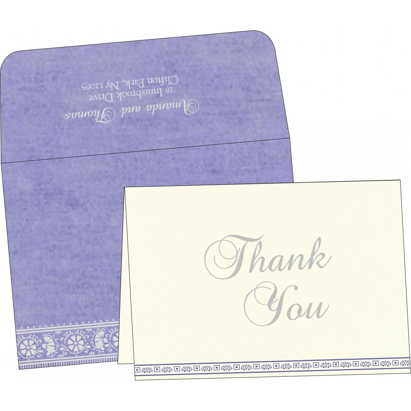 Thank You Cards : CTYC-8242C - IndianWeddingCards