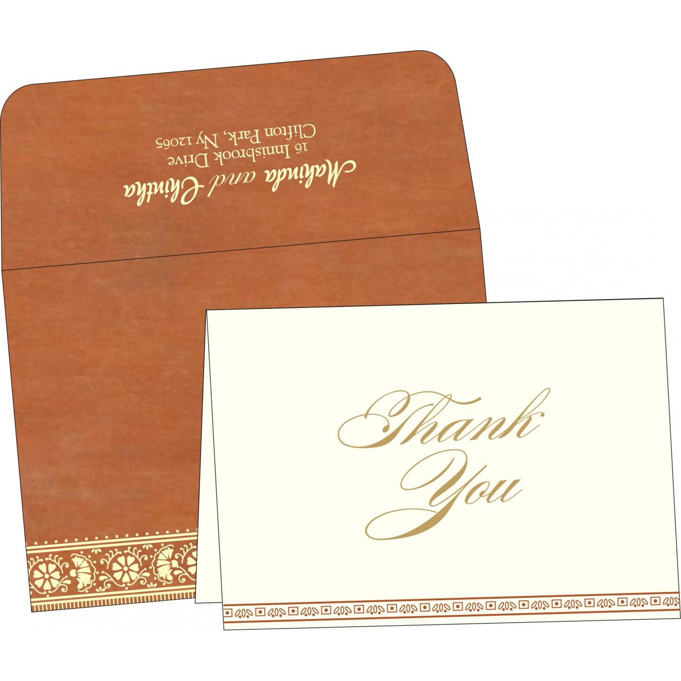 Thank You Cards : CTYC-8242E - IndianWeddingCards