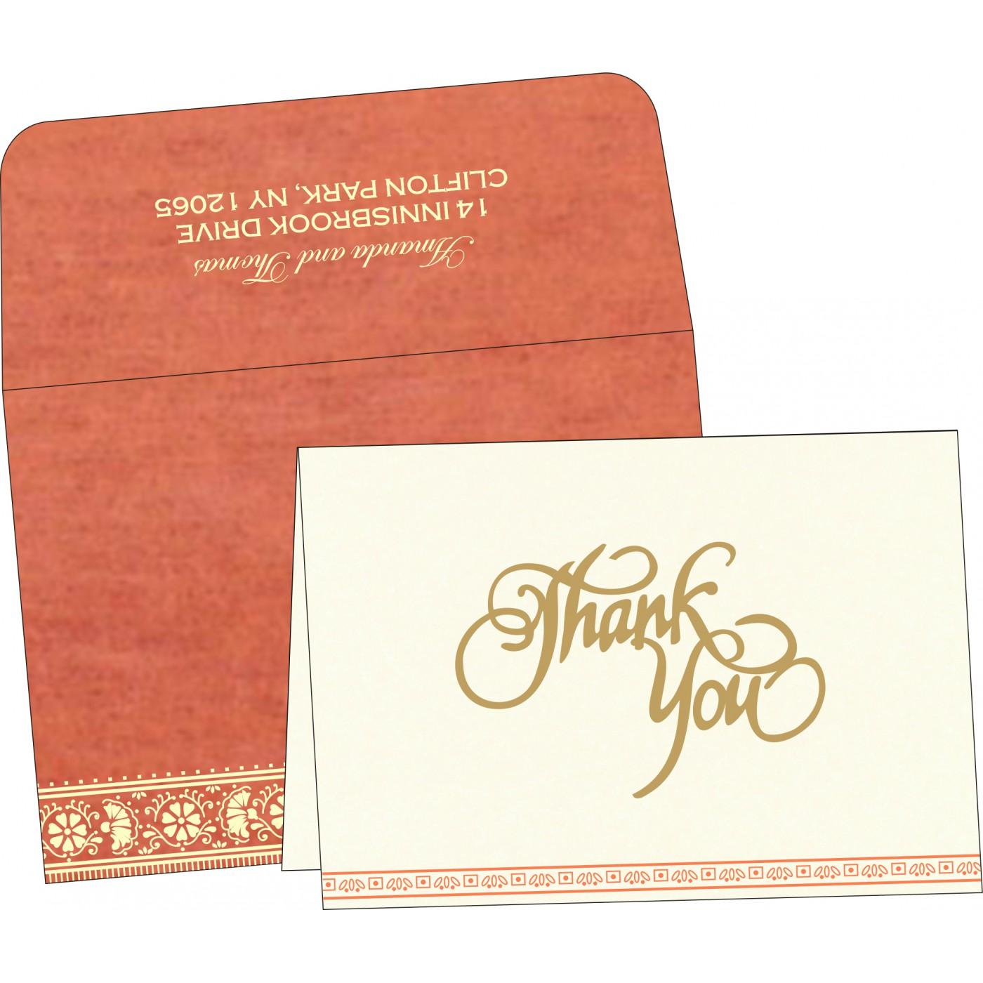 Thank You Cards : CTYC-8242I - IndianWeddingCards