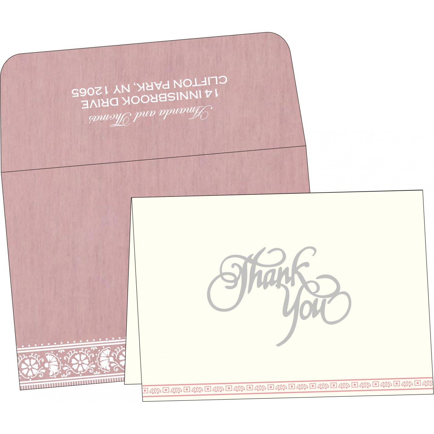 Thank You Cards : CTYC-8242N - IndianWeddingCards