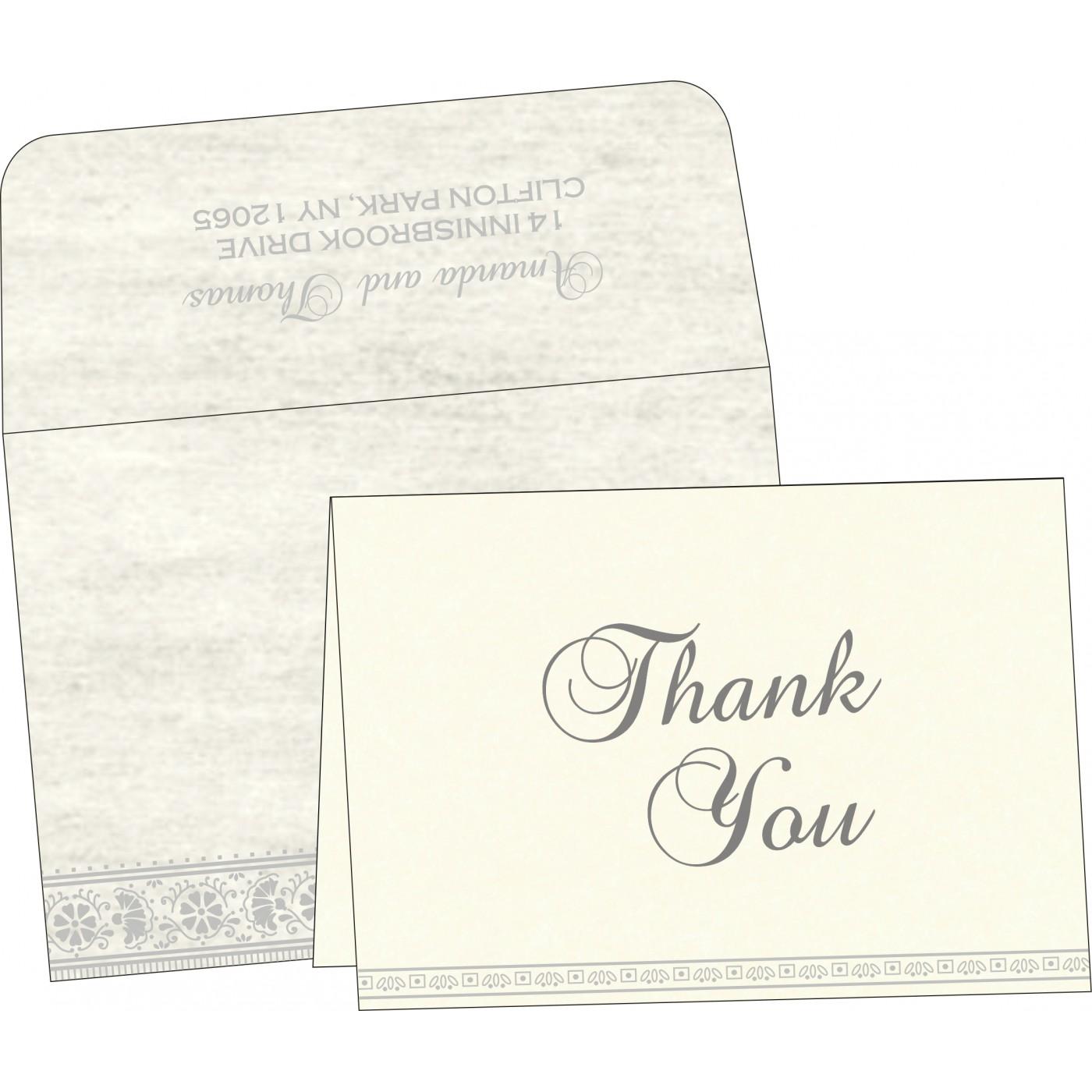 Thank You Cards : CTYC-8242P - IndianWeddingCards