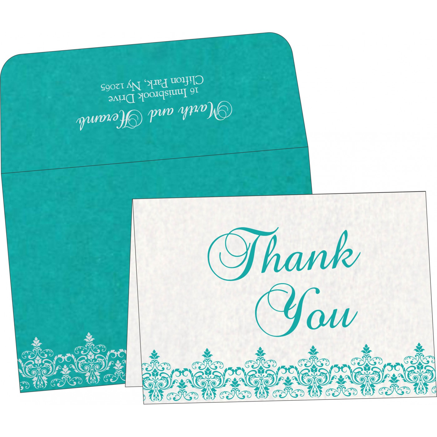 Thank You Cards : CTYC-8244C - IndianWeddingCards