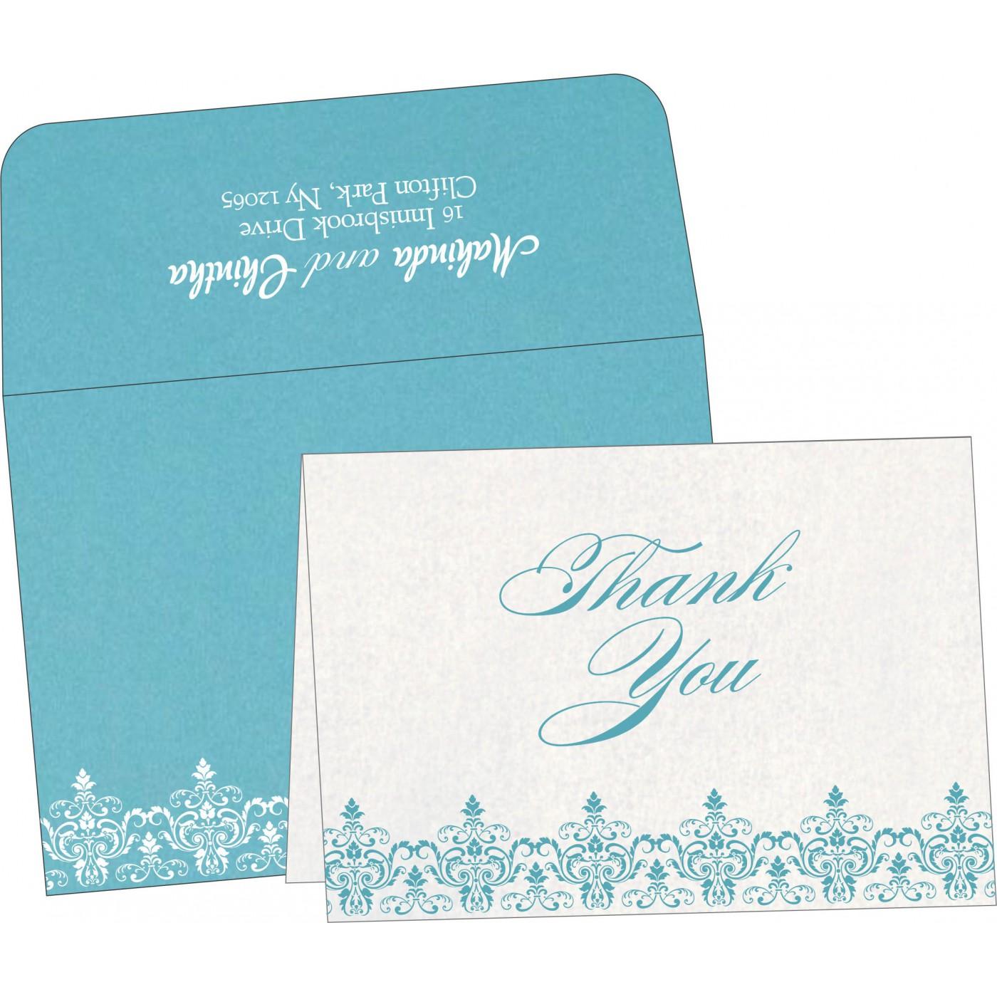 Thank You Cards : CTYC-8244F - IndianWeddingCards