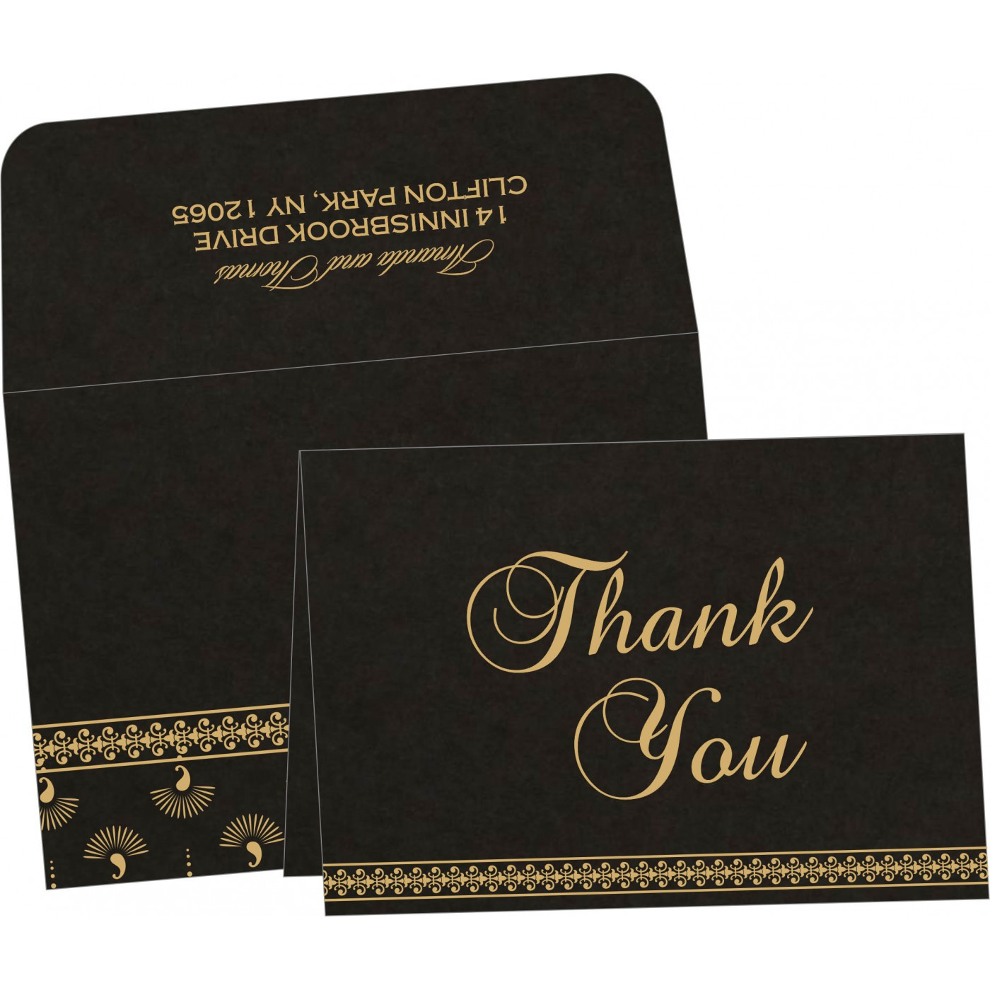 Thank You Cards : CTYC-8247B - IndianWeddingCards