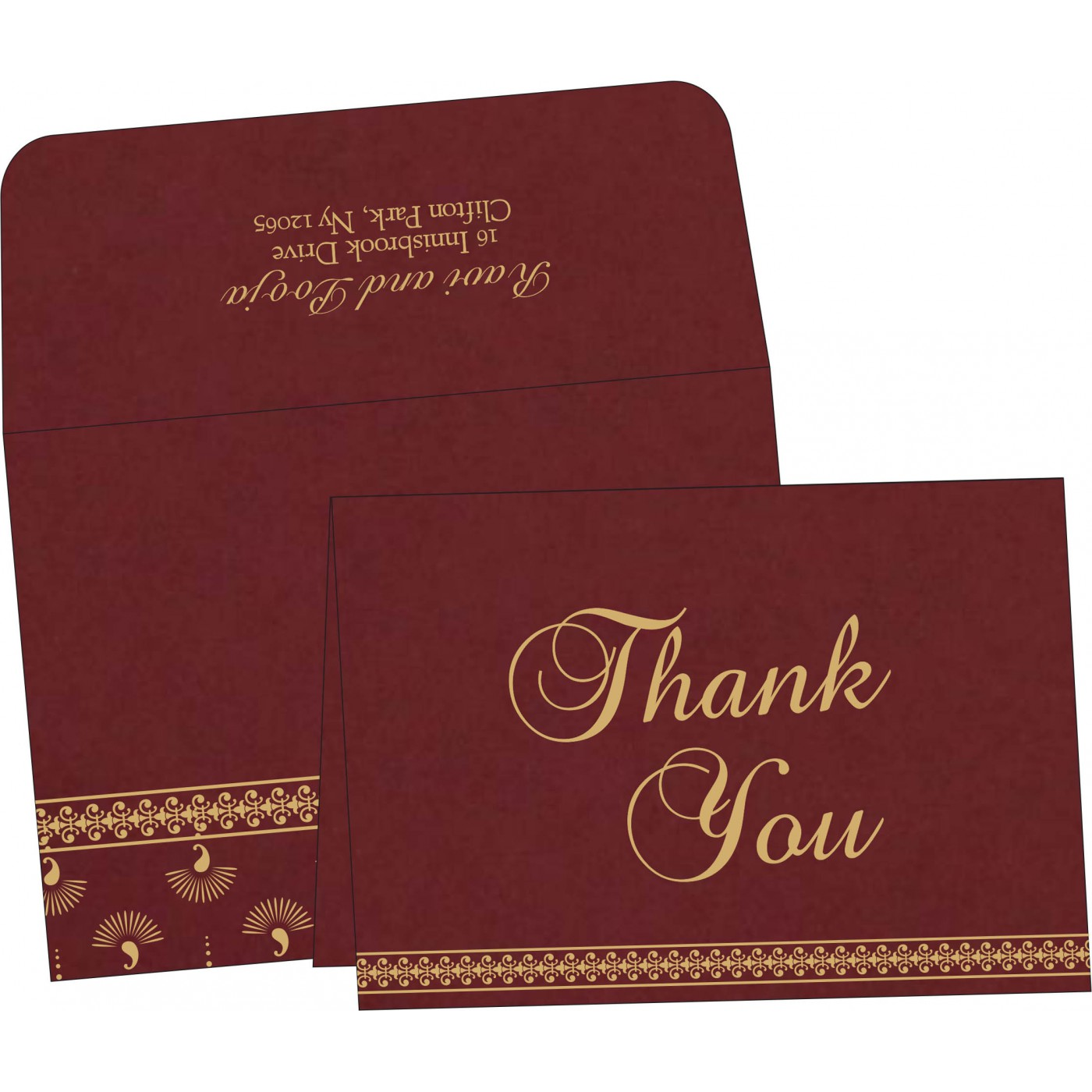 Thank You Cards : CTYC-8247D - IndianWeddingCards