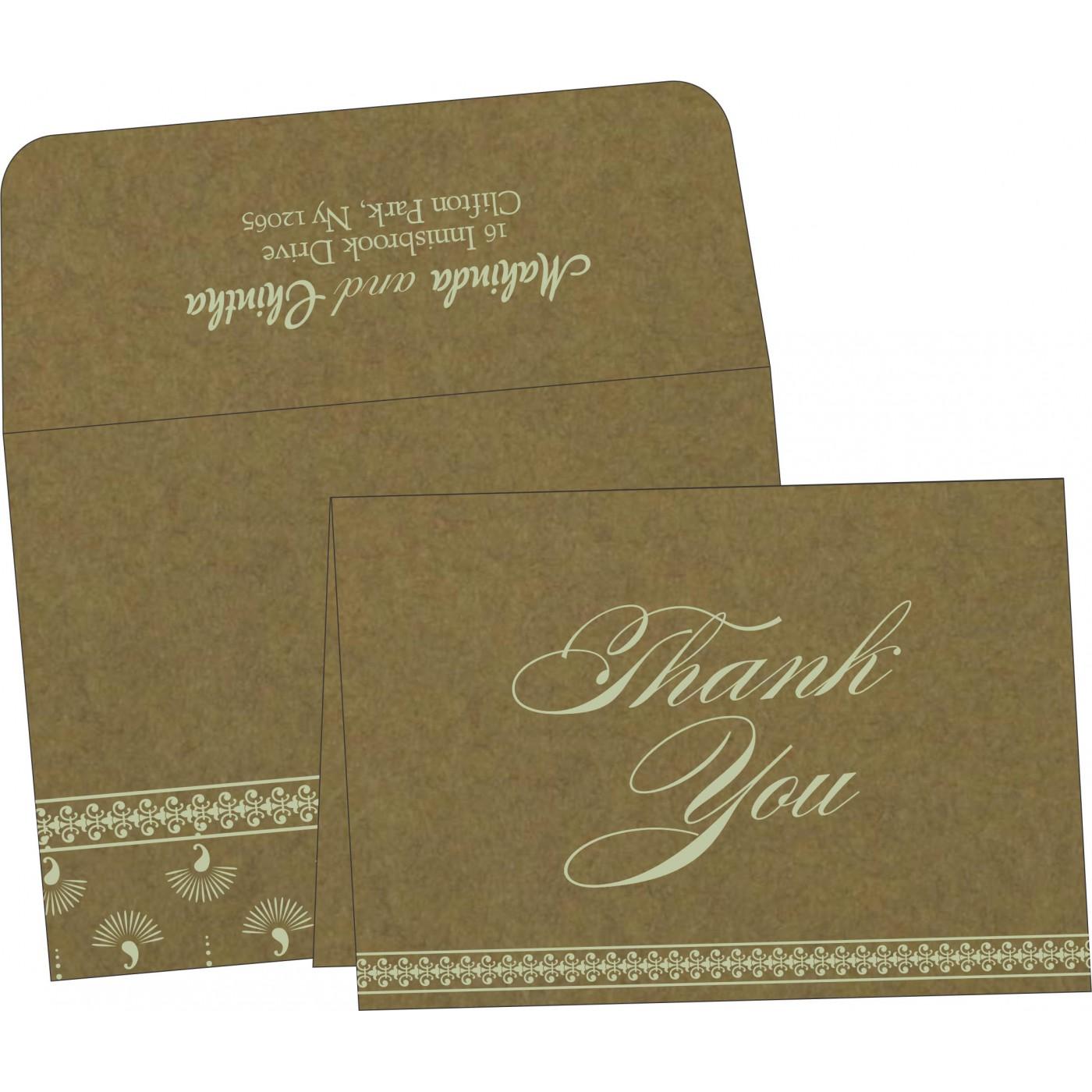 Thank You Cards : CTYC-8247E - IndianWeddingCards