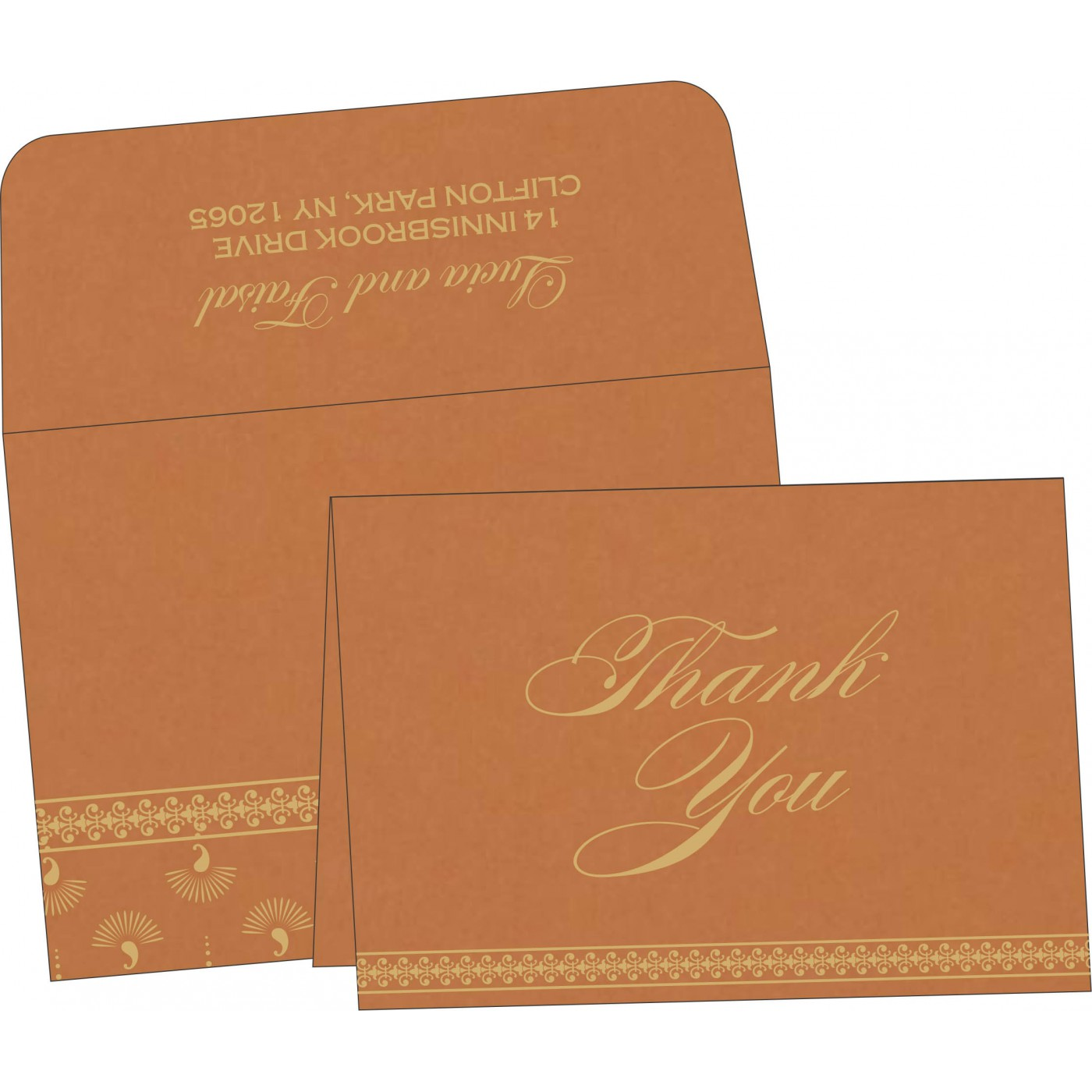 Thank You Cards : CTYC-8247F - IndianWeddingCards