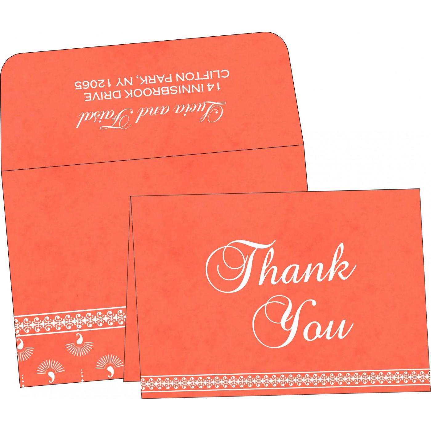 Thank You Cards : CTYC-8247I - IndianWeddingCards