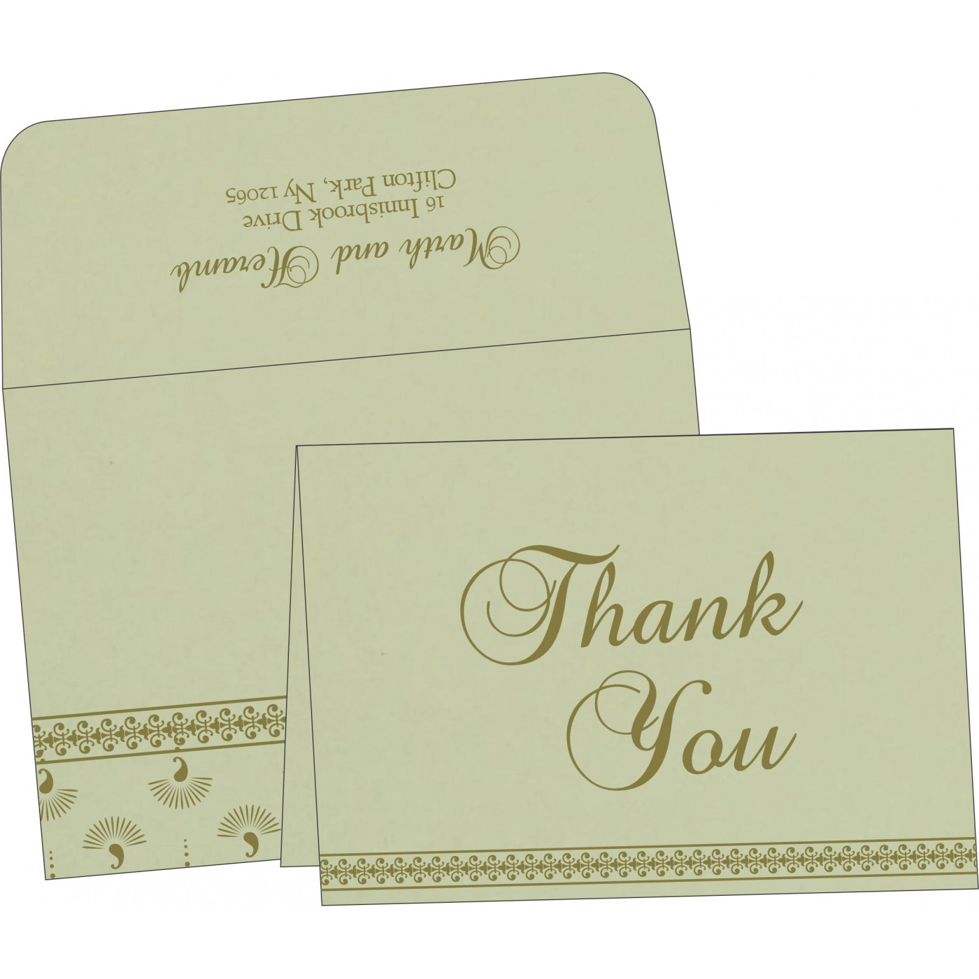 Thank You Cards : CTYC-8247L - IndianWeddingCards