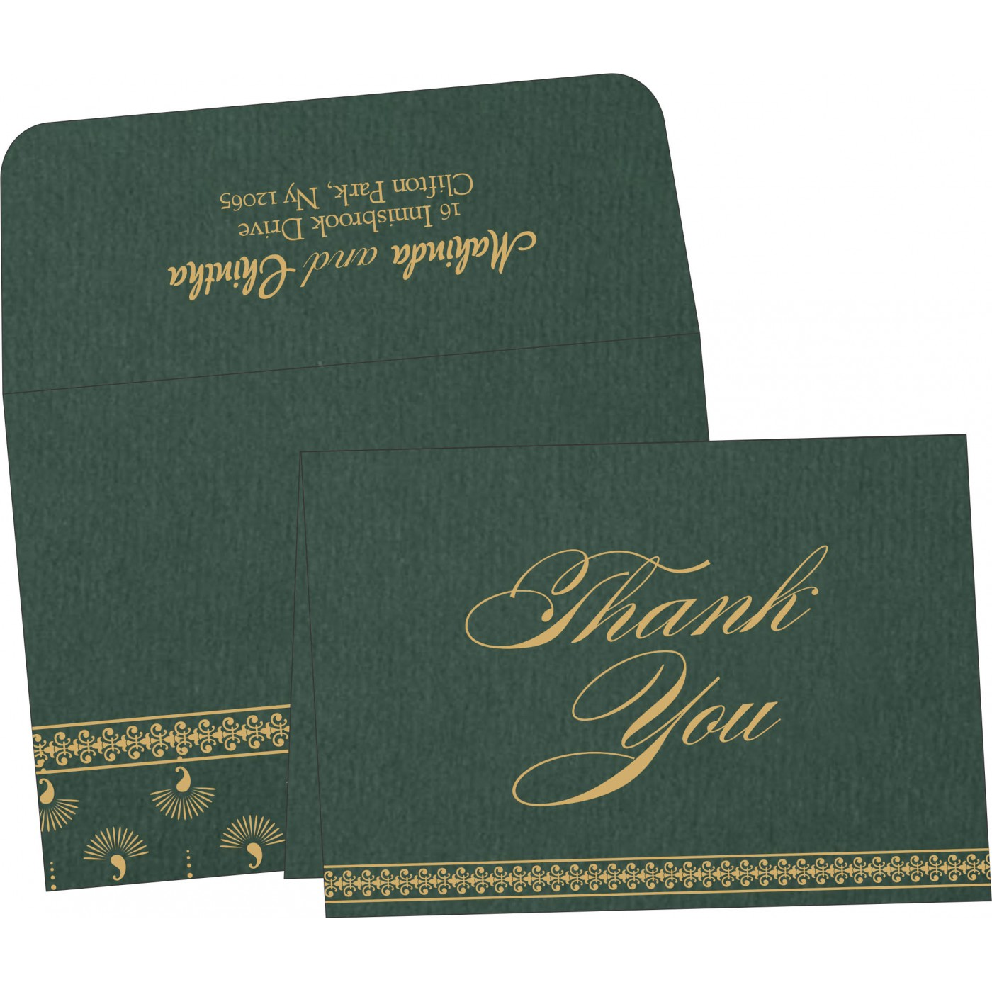 Thank You Cards : CTYC-8247N - IndianWeddingCards