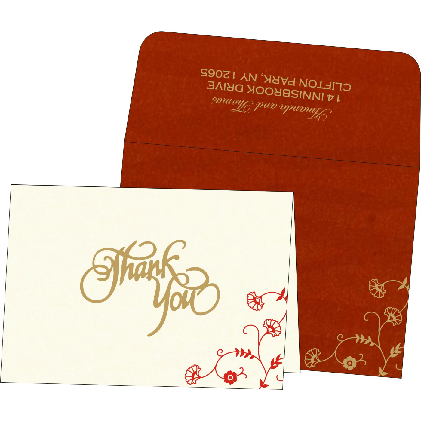 Thank You Cards : CTYC-8248A - IndianWeddingCards