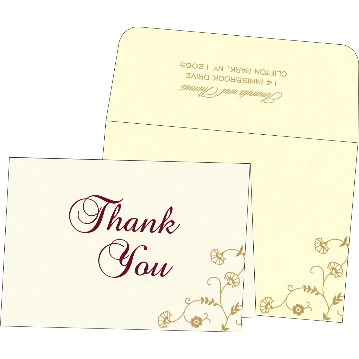Thank You Cards : CTYC-8248B - IndianWeddingCards
