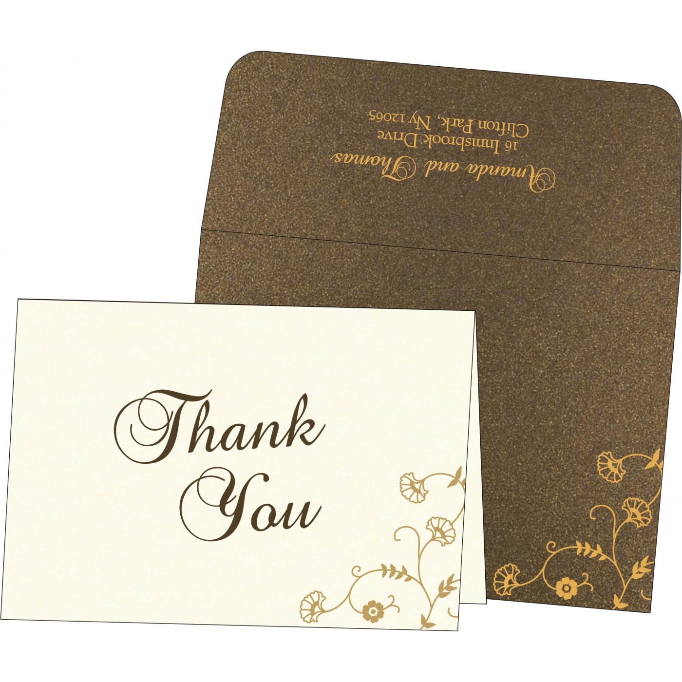 Thank You Cards : CTYC-8248C - IndianWeddingCards