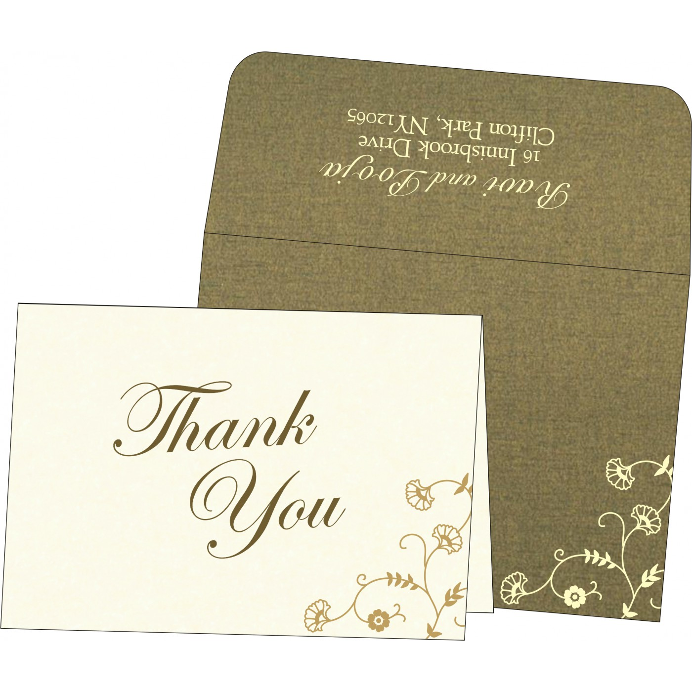 Thank You Cards : CTYC-8248D - IndianWeddingCards