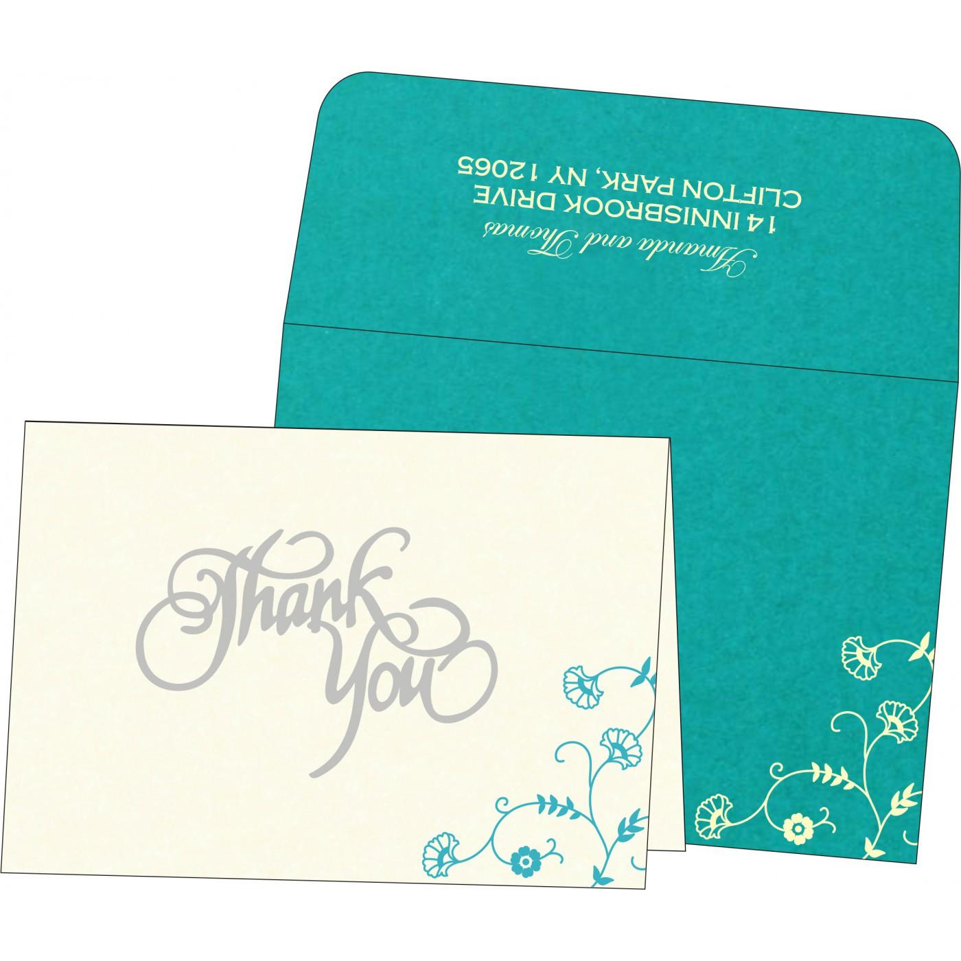 Thank You Cards : CTYC-8248F - IndianWeddingCards