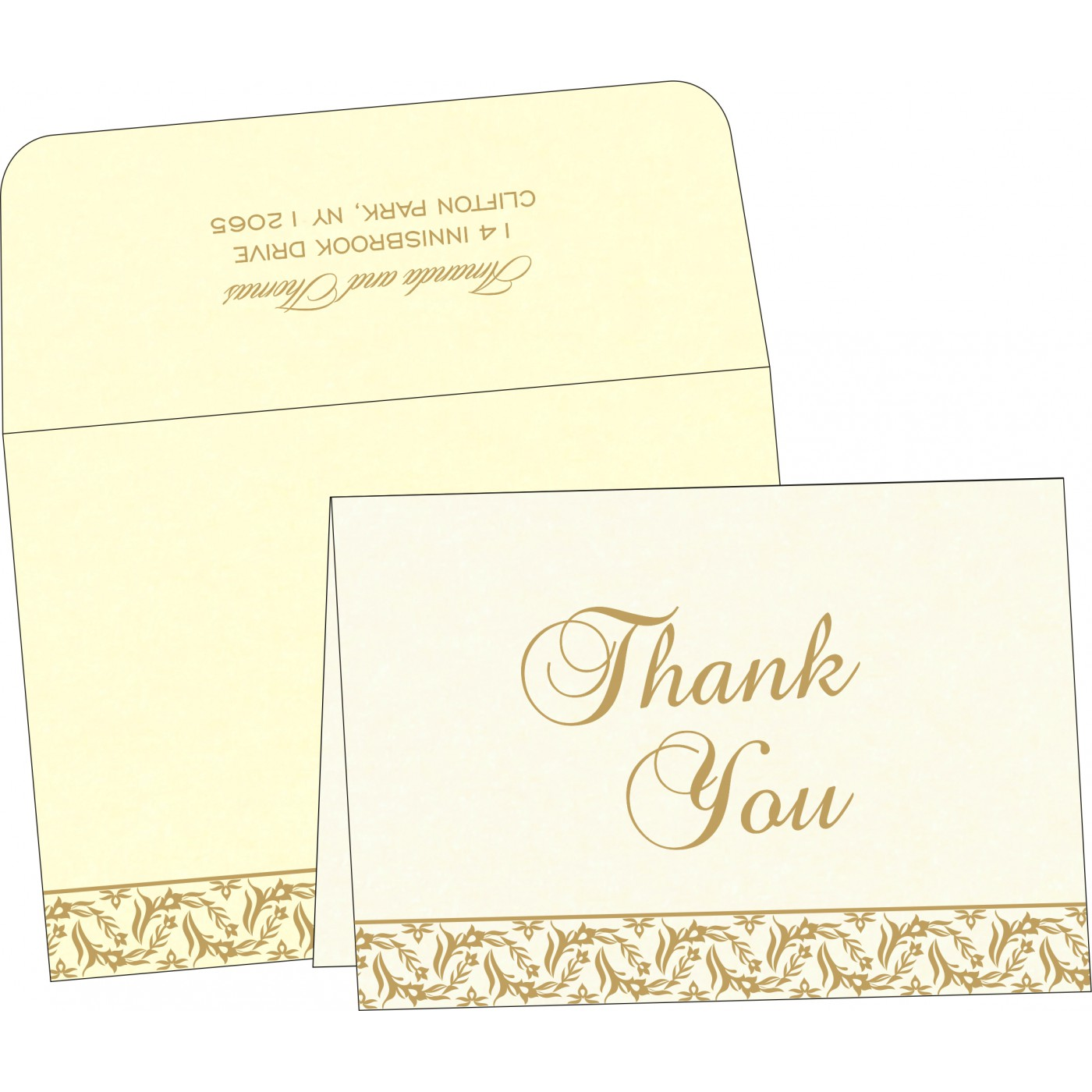 Thank You Cards : CTYC-8249B - IndianWeddingCards