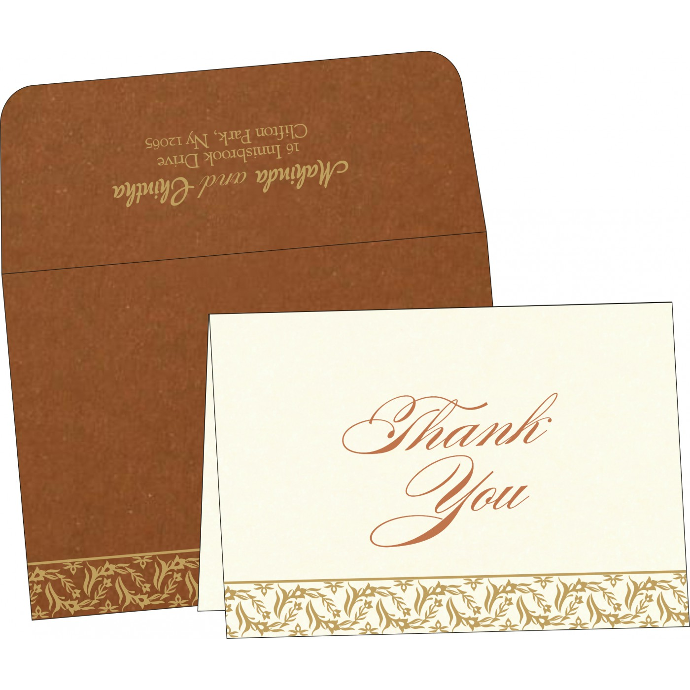 Thank You Cards : CTYC-8249F - IndianWeddingCards