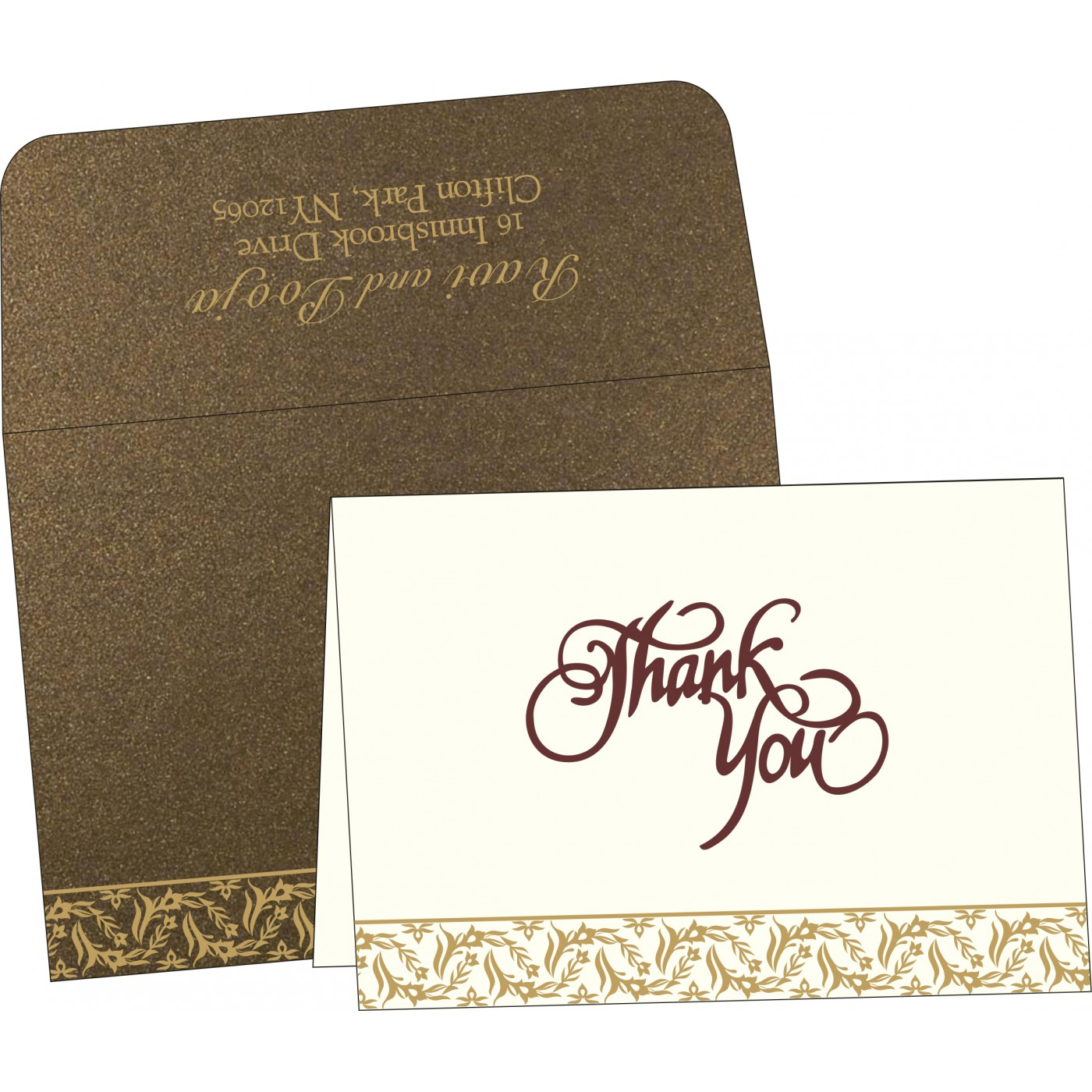 Thank You Cards : CTYC-8249J - IndianWeddingCards