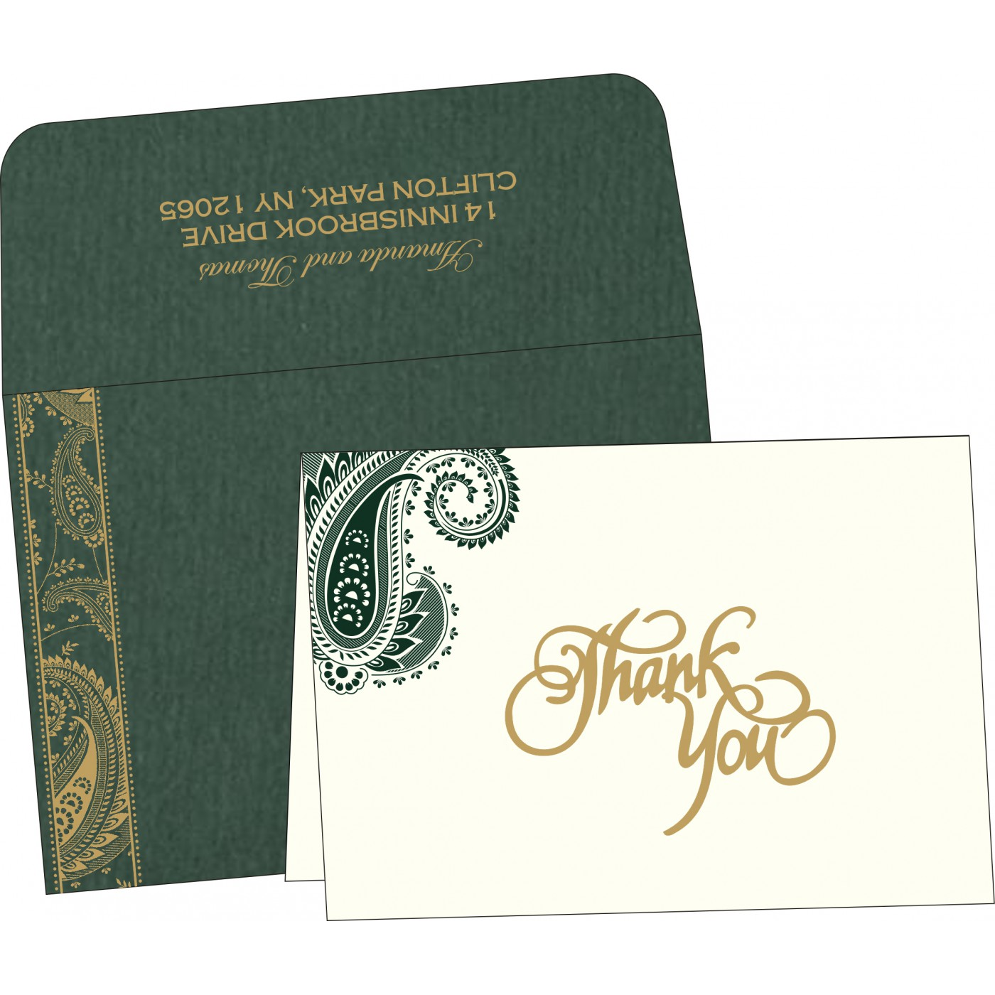 Thank You Cards : CTYC-8250C - IndianWeddingCards