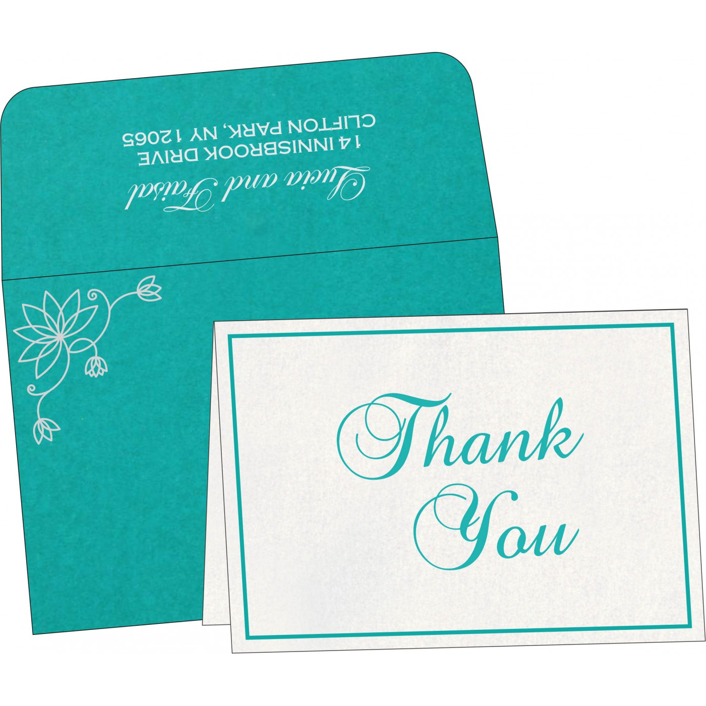 Thank You Cards : CTYC-8251A - IndianWeddingCards