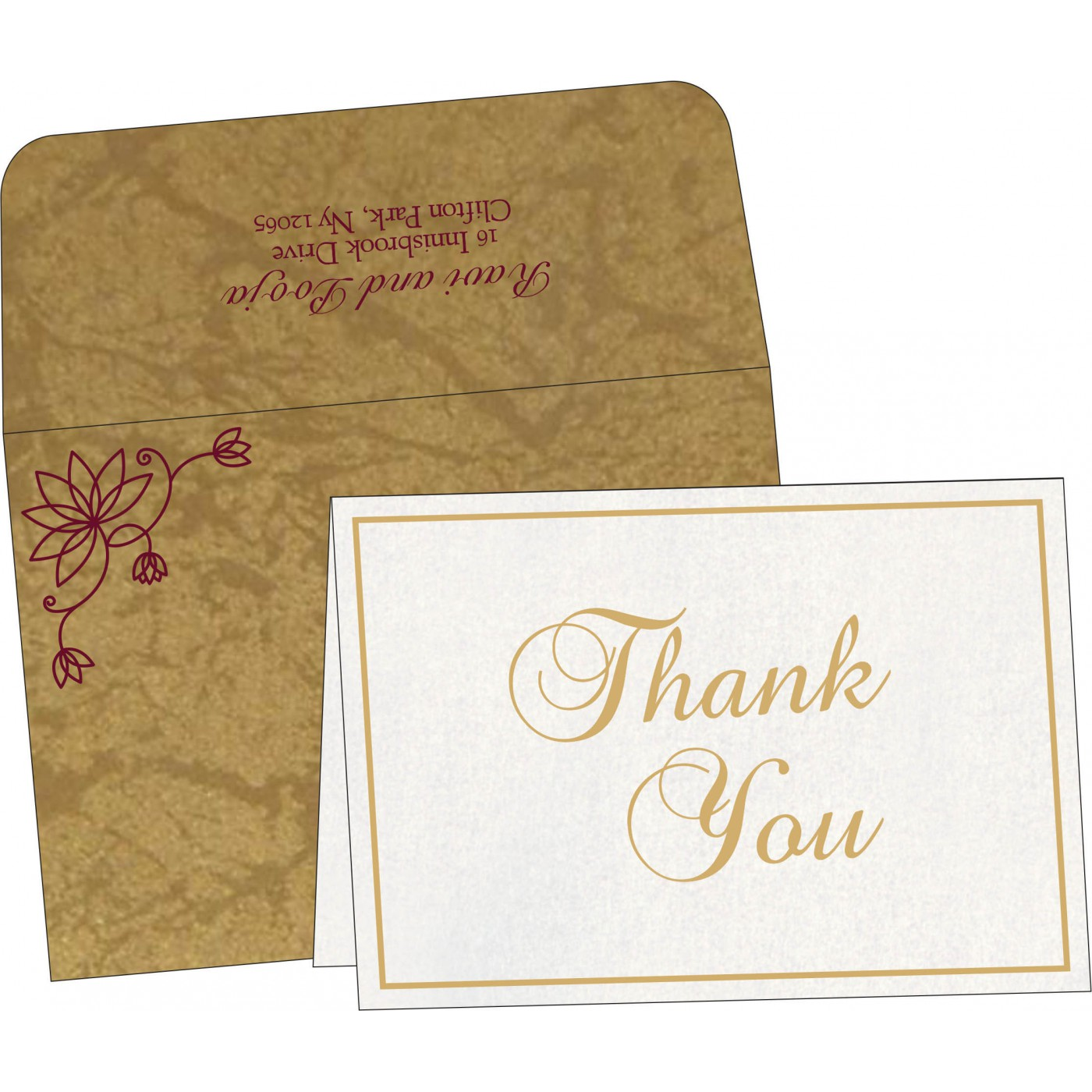 Thank You Cards : CTYC-8251E - IndianWeddingCards