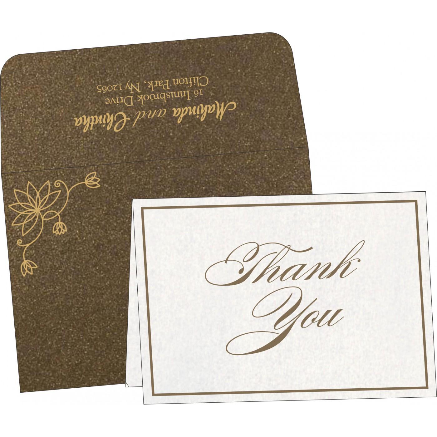 Thank You Cards : CTYC-8251F - IndianWeddingCards