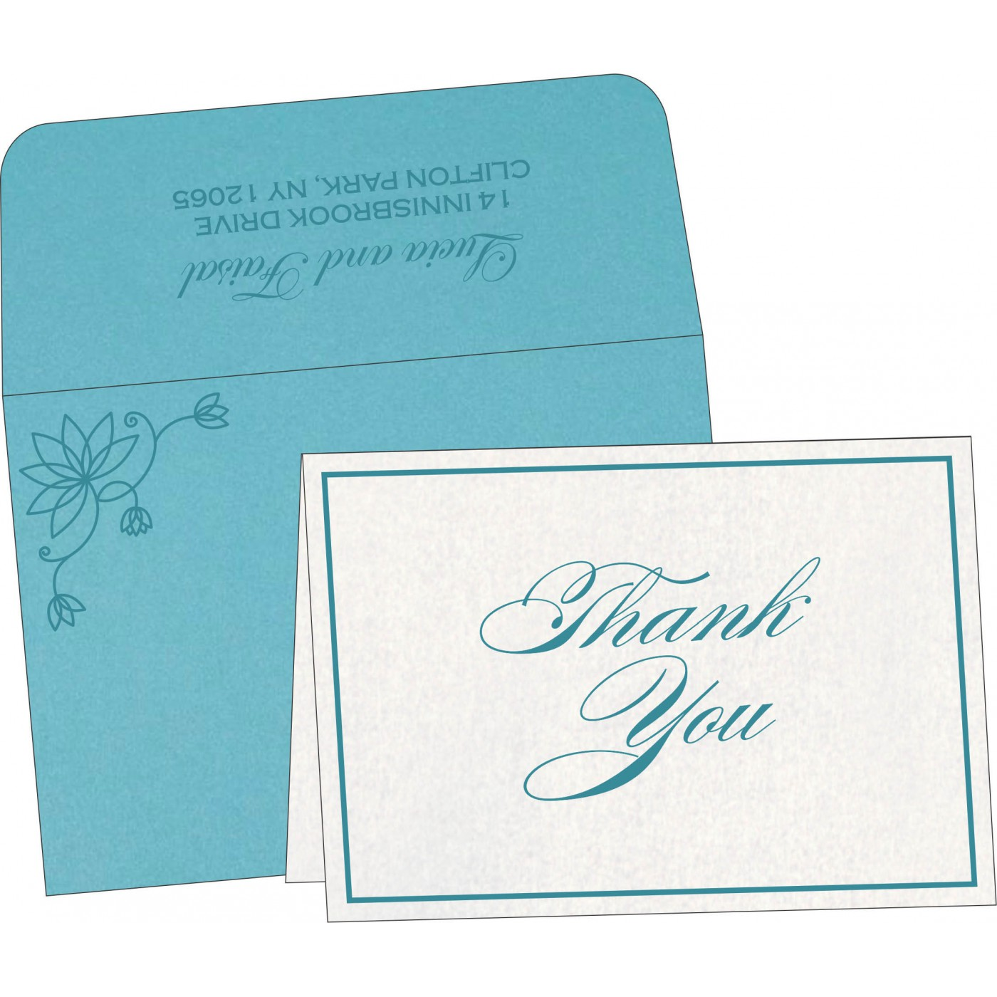 Thank You Cards : CTYC-8251G - IndianWeddingCards