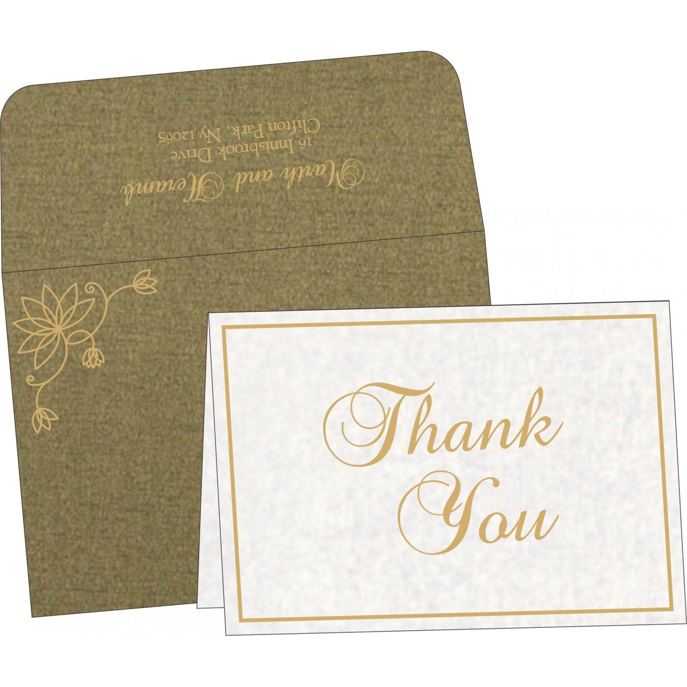 Thank You Cards : CTYC-8251K - IndianWeddingCards