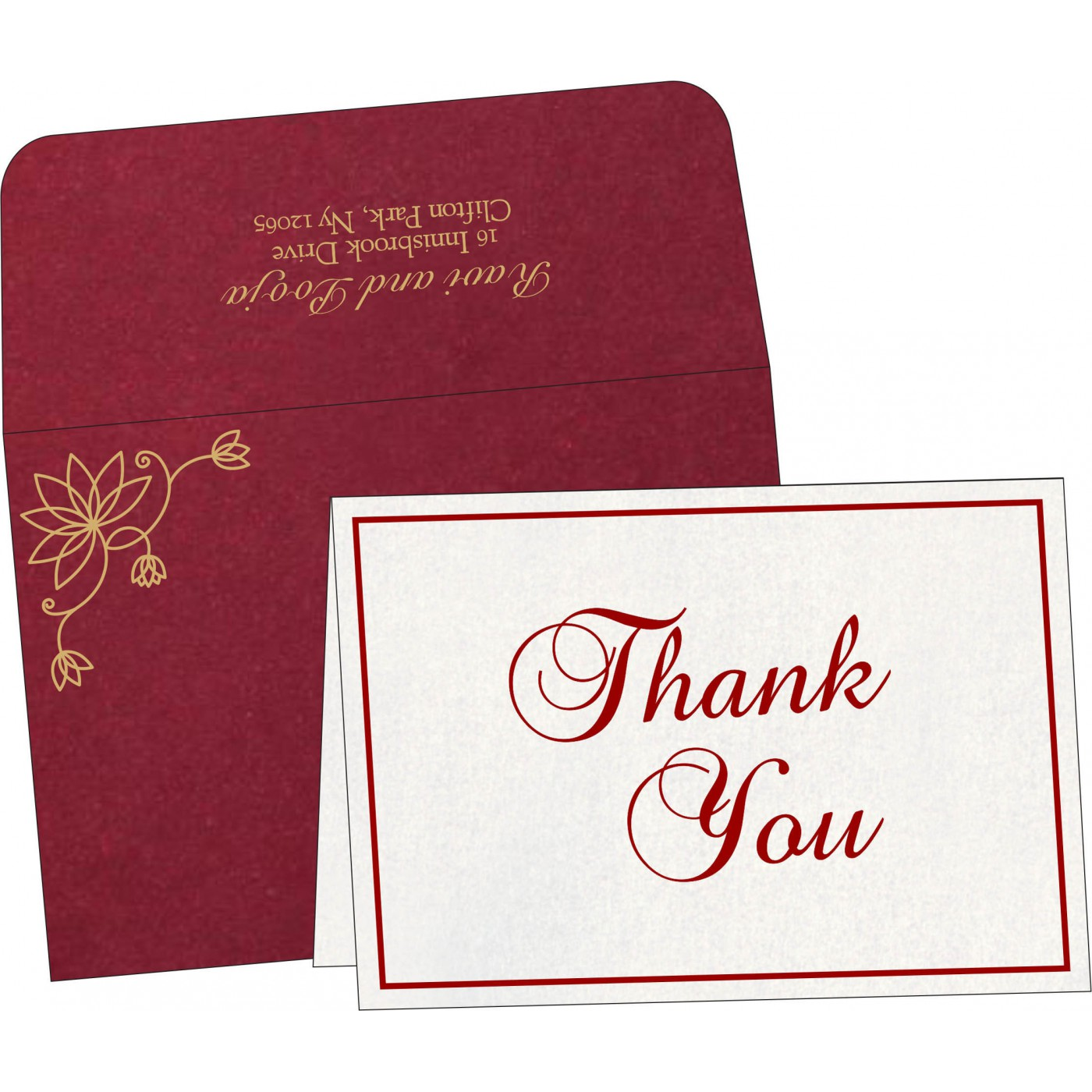 Thank You Cards : CTYC-8251L - IndianWeddingCards
