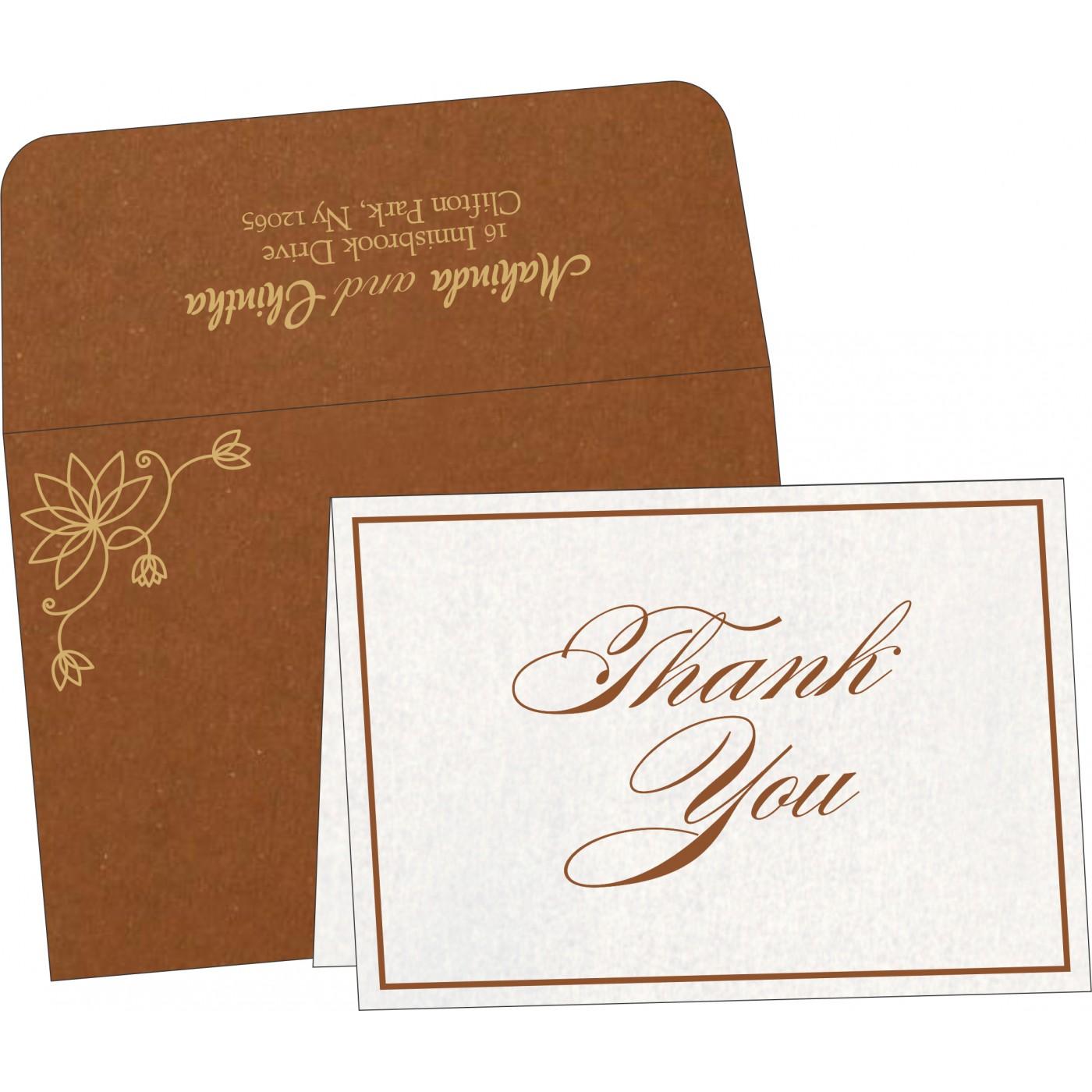 Thank You Cards : CTYC-8251M - IndianWeddingCards