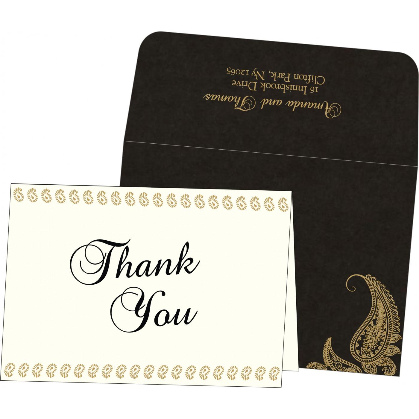 Thank You Cards : CTYC-8252C - IndianWeddingCards