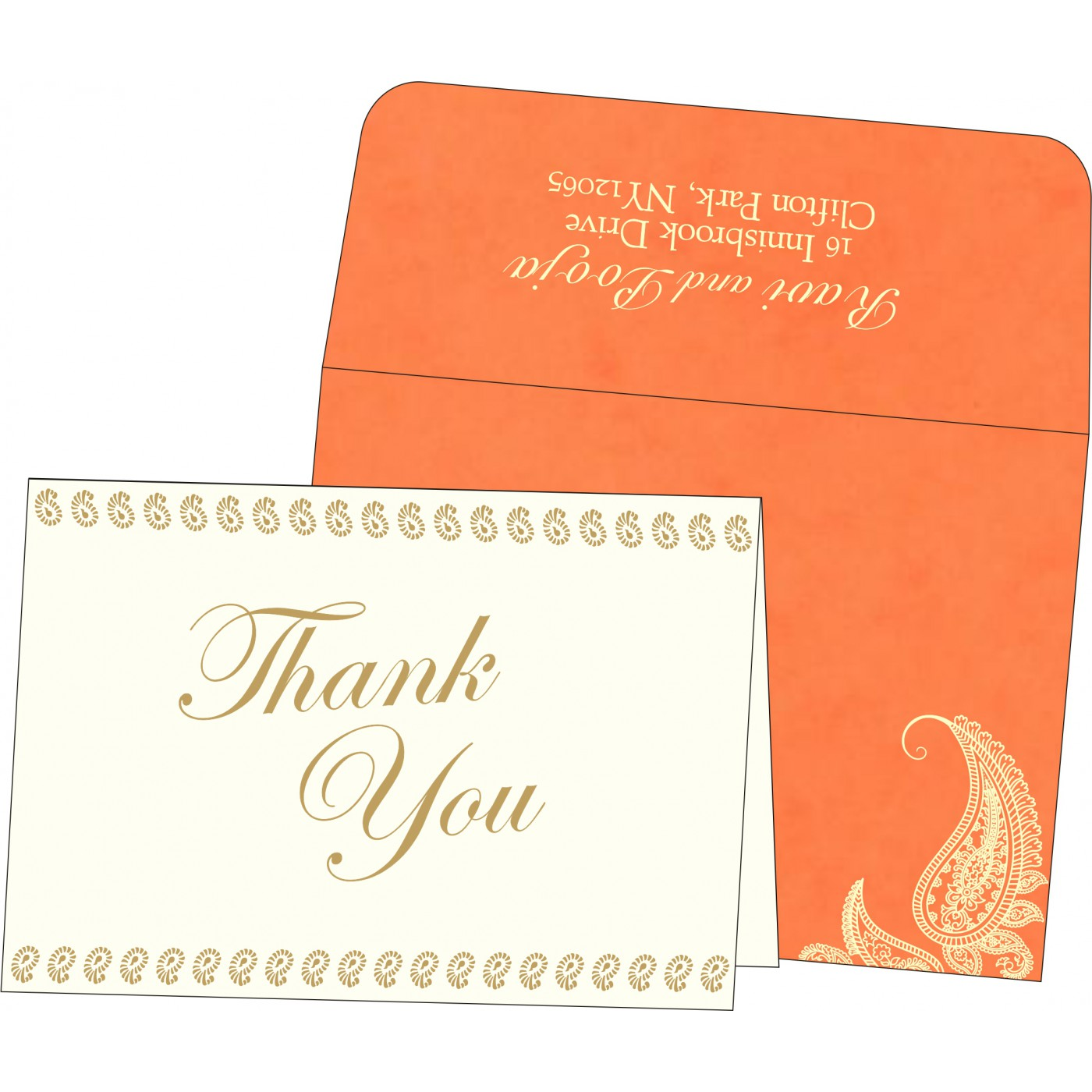 Thank You Cards : CTYC-8252D - IndianWeddingCards