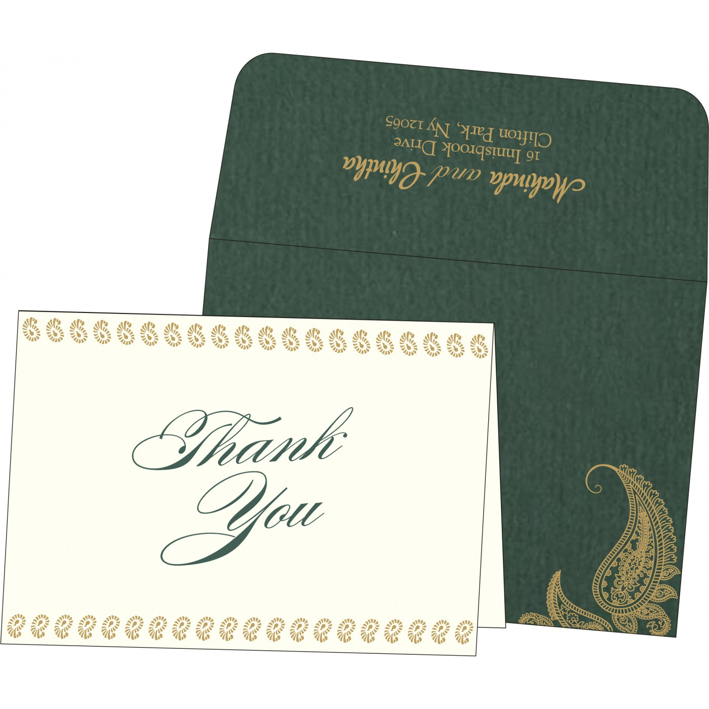 Thank You Cards : CTYC-8252E - IndianWeddingCards