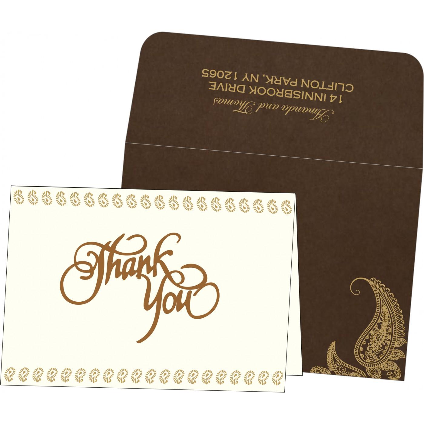 Thank You Cards : CTYC-8252F - IndianWeddingCards