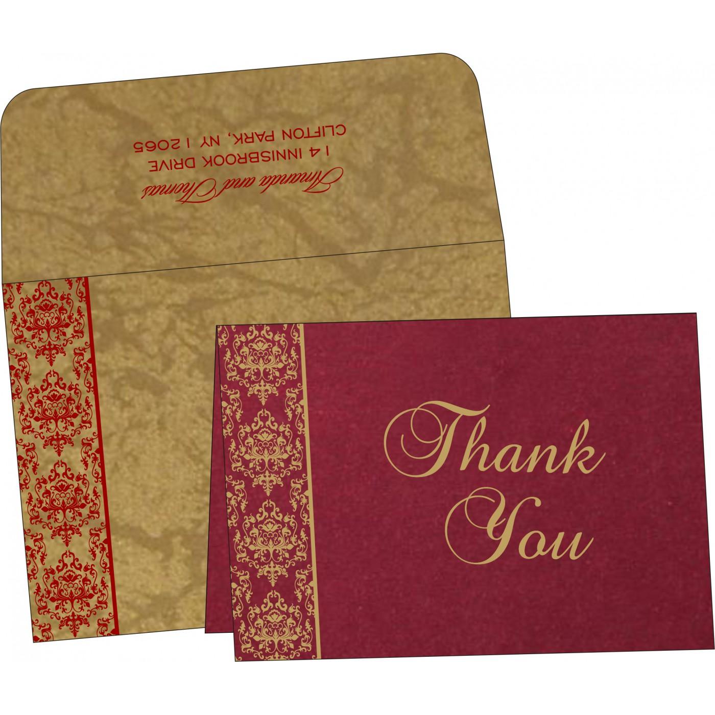 Thank You Cards : CTYC-8253B - IndianWeddingCards