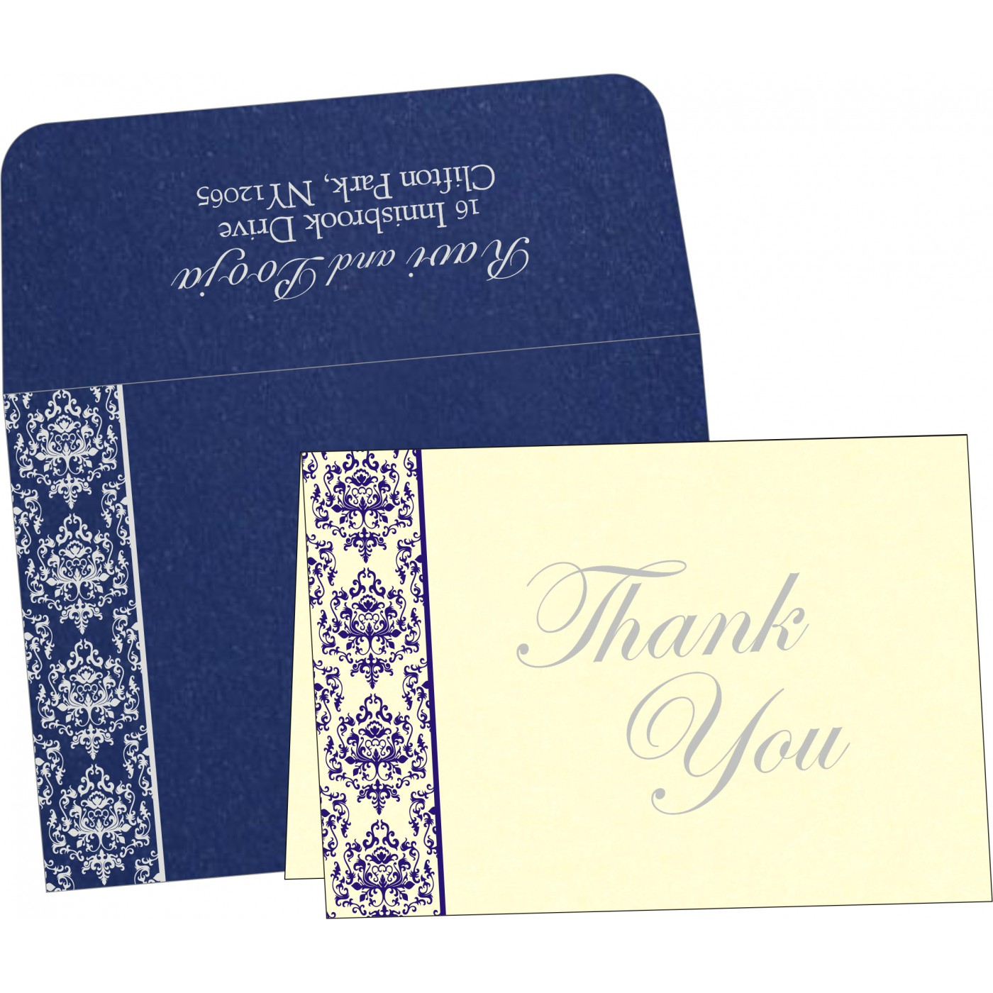 Thank You Cards : CTYC-8253D - IndianWeddingCards