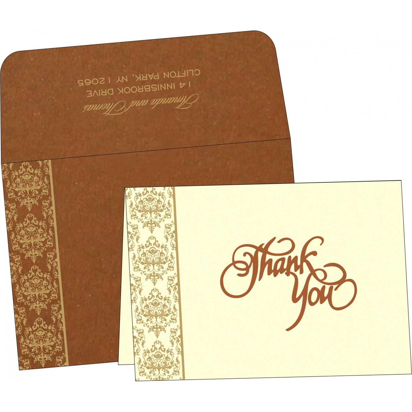Thank You Cards : CTYC-8253G - IndianWeddingCards