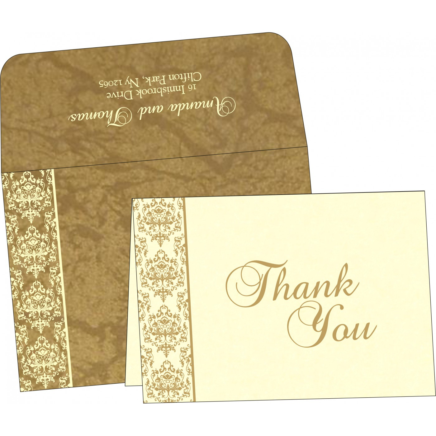 Thank You Cards : CTYC-8253H - IndianWeddingCards