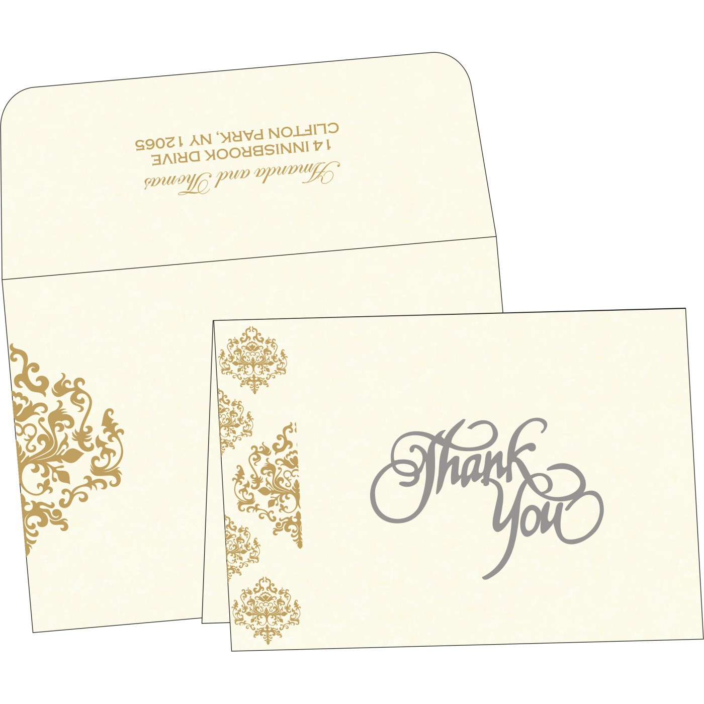 Thank You Cards : CTYC-8254A - IndianWeddingCards