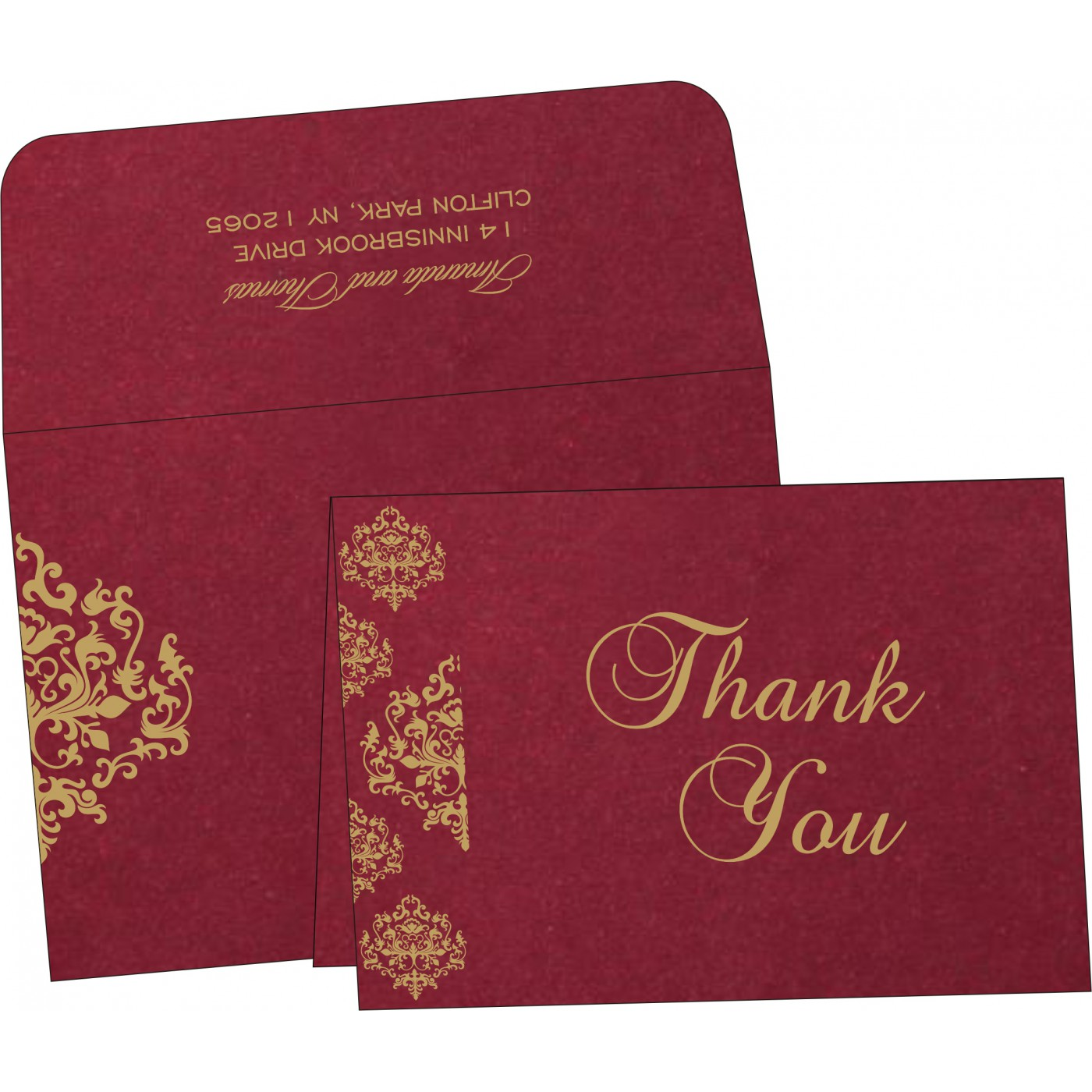 Thank You Cards : CTYC-8254B - IndianWeddingCards